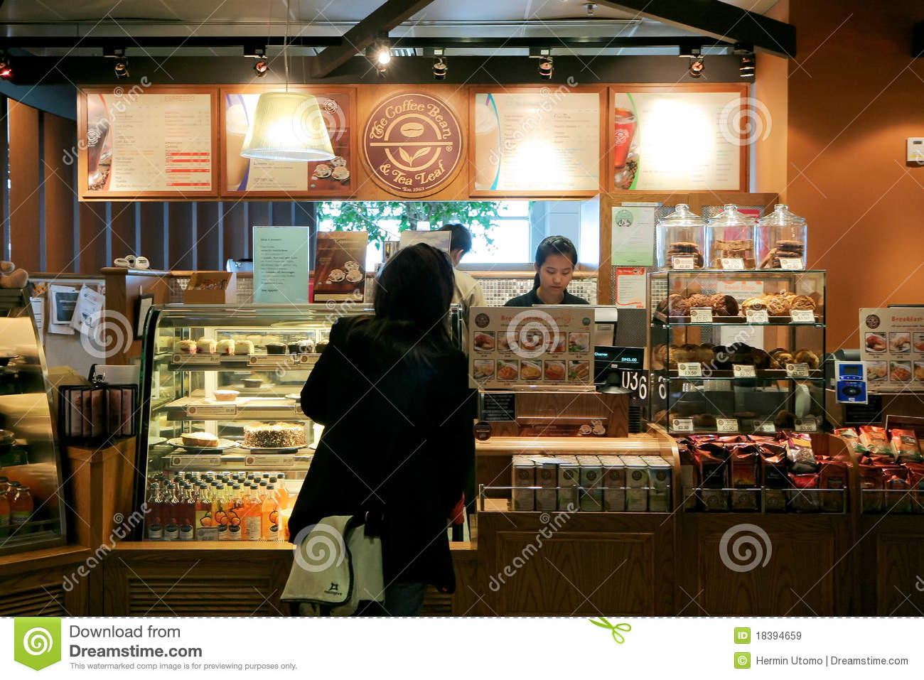 Ordering Coffee Editorial Stock Image Image Of Bean