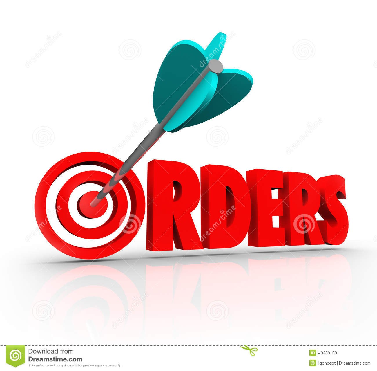 orders 3d word arrow target purchasing merchandise store happy customer service week clipart Angry Customer Clip Art