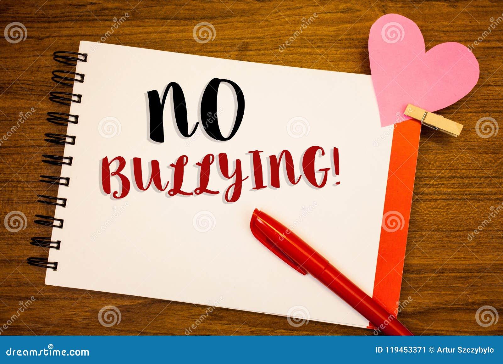 Ordhandstiltext ingen Motivational appell för pennalism Affärsidé för förbjuden anfall för missbrukmobbningagression