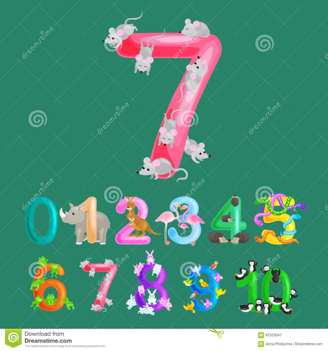 Ordinal Numbers For Teaching Children Counting With The Ability To ...