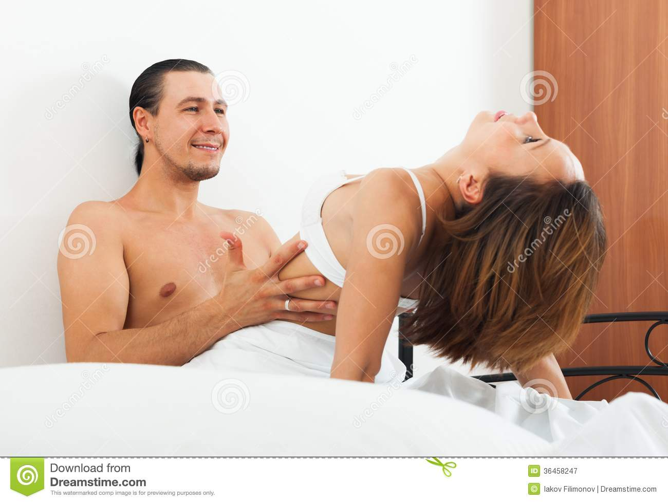 Ordinary Couple Having Sex Royalty Free Stock Photography -6884