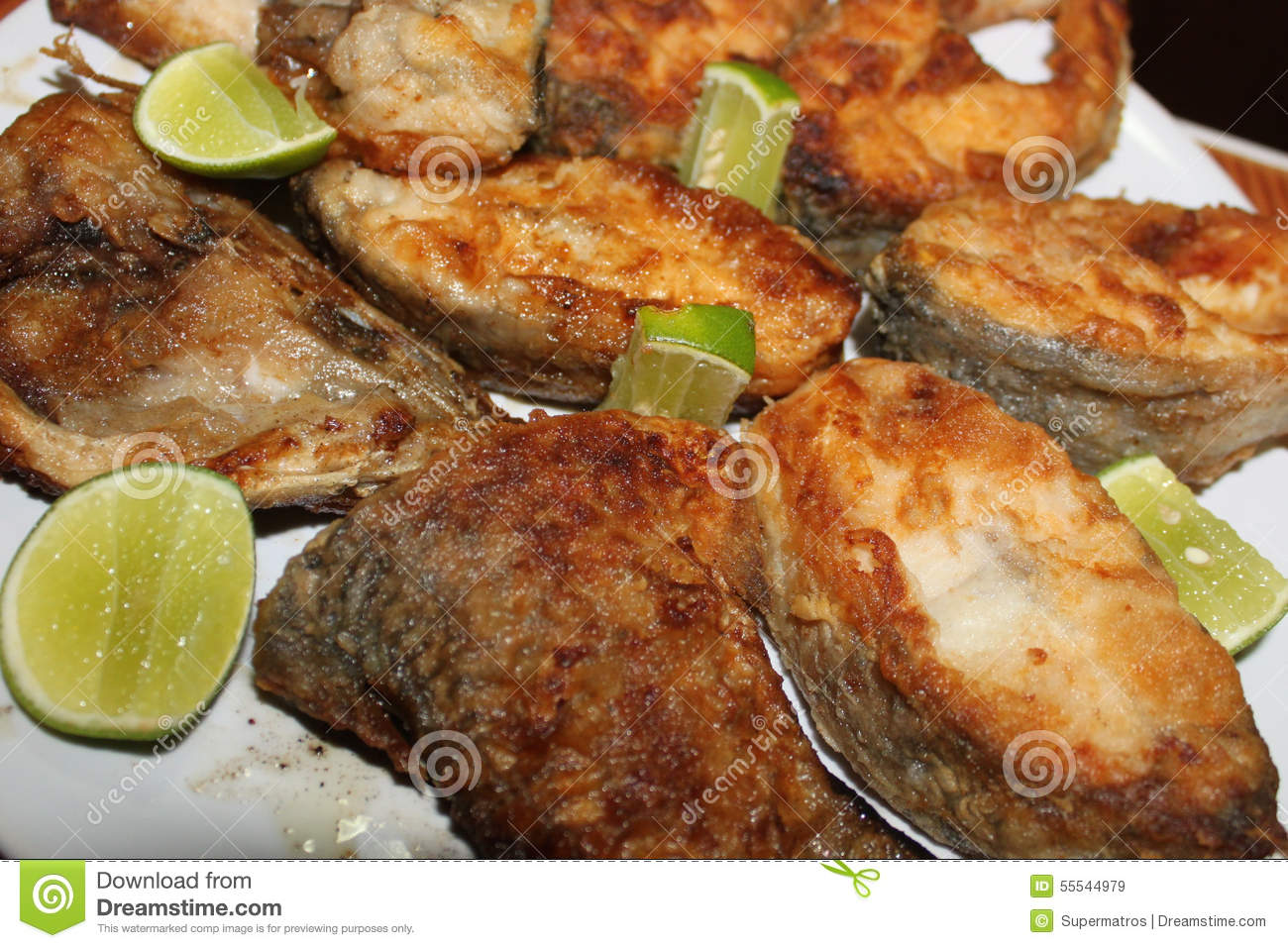 Ordinary fried fish in flour stock photo image 55544979 for How to fry fish with flour