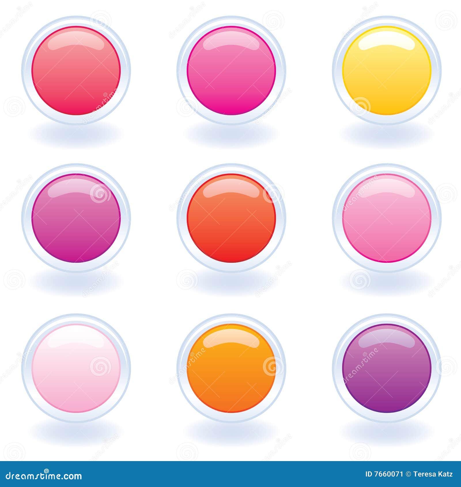 Ordinateur de couleurs de boutons chaud