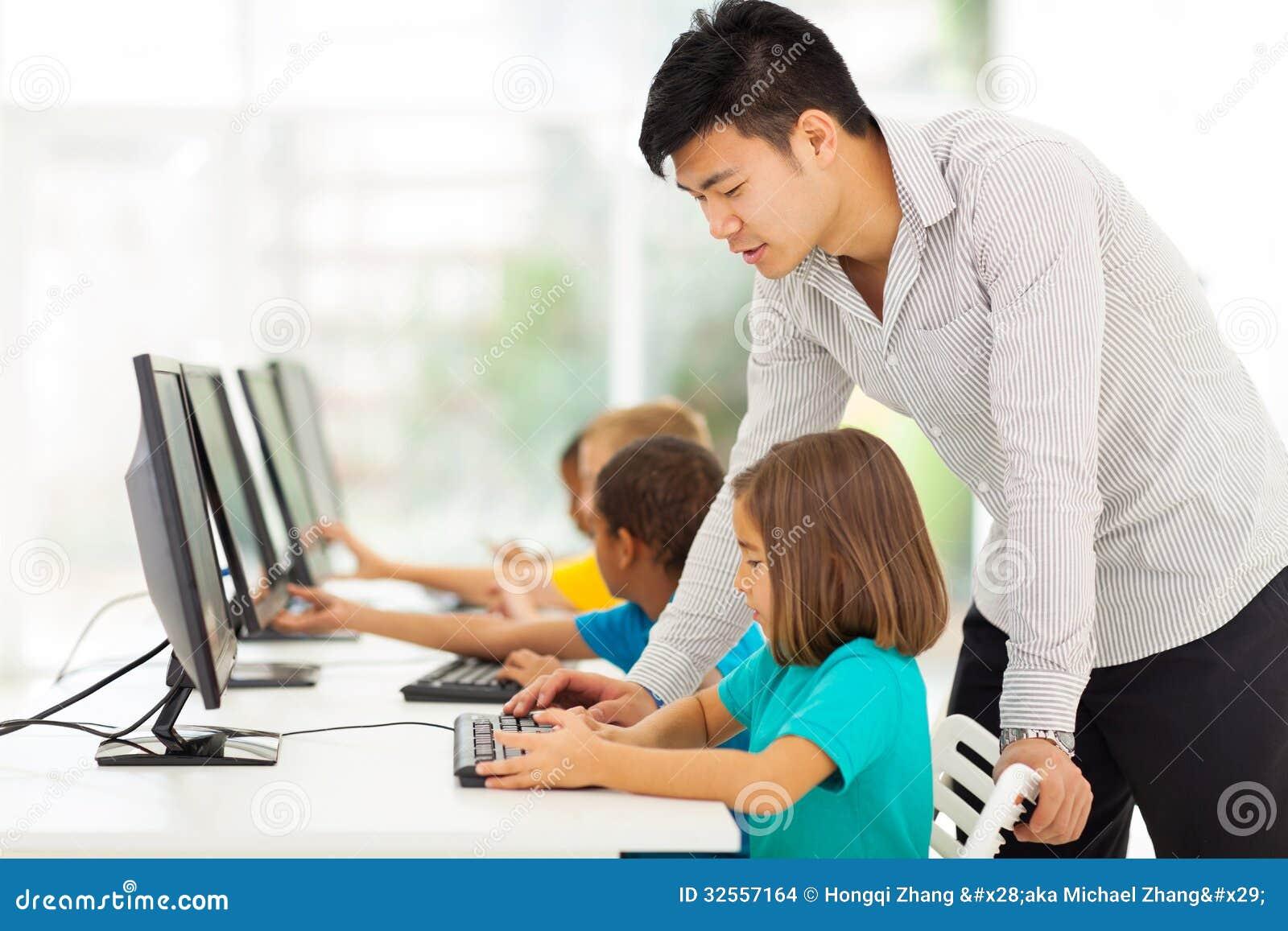 Ordinateur de enseignement de professeur