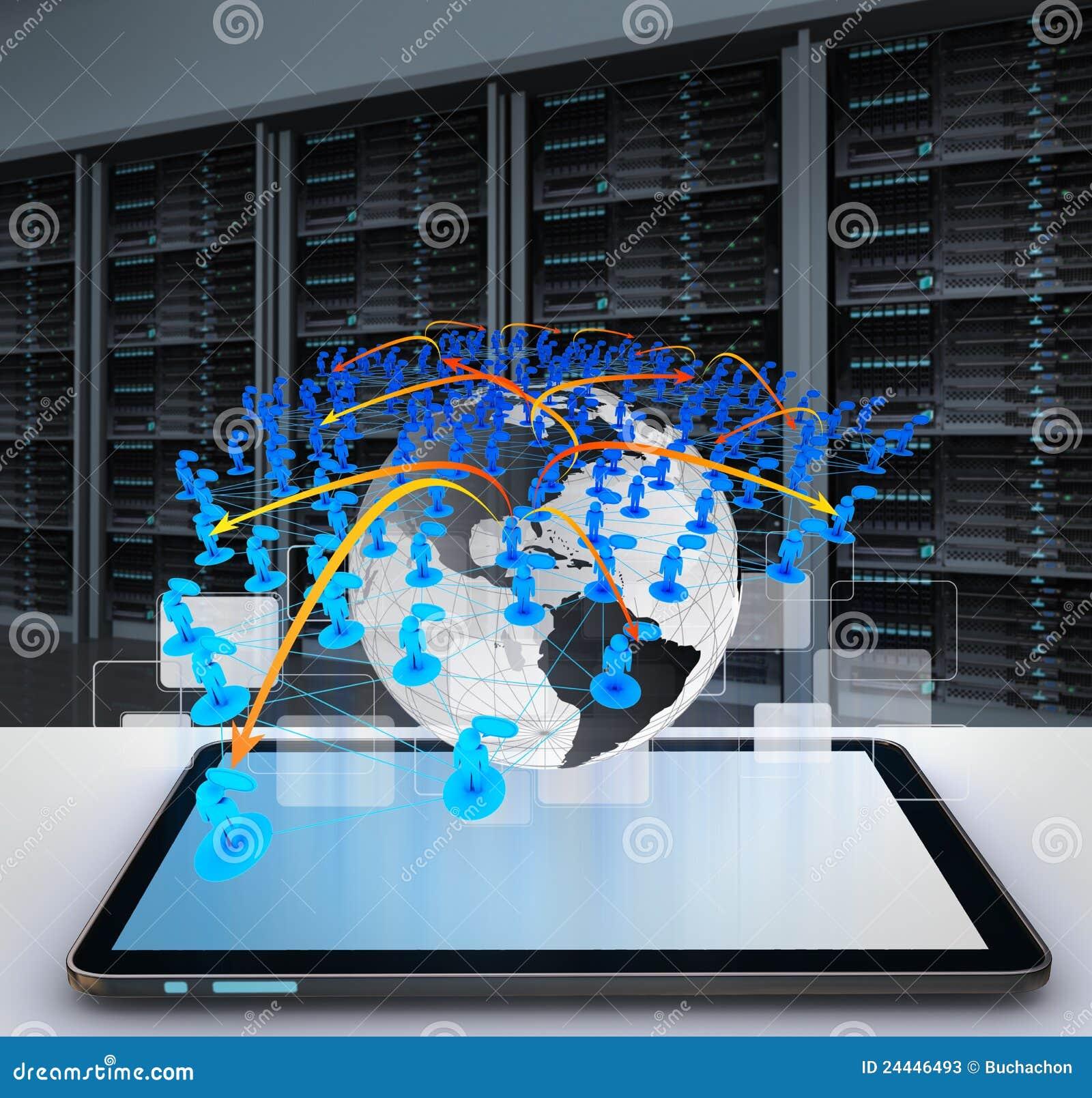 Ordinateur de tablette et réseau social