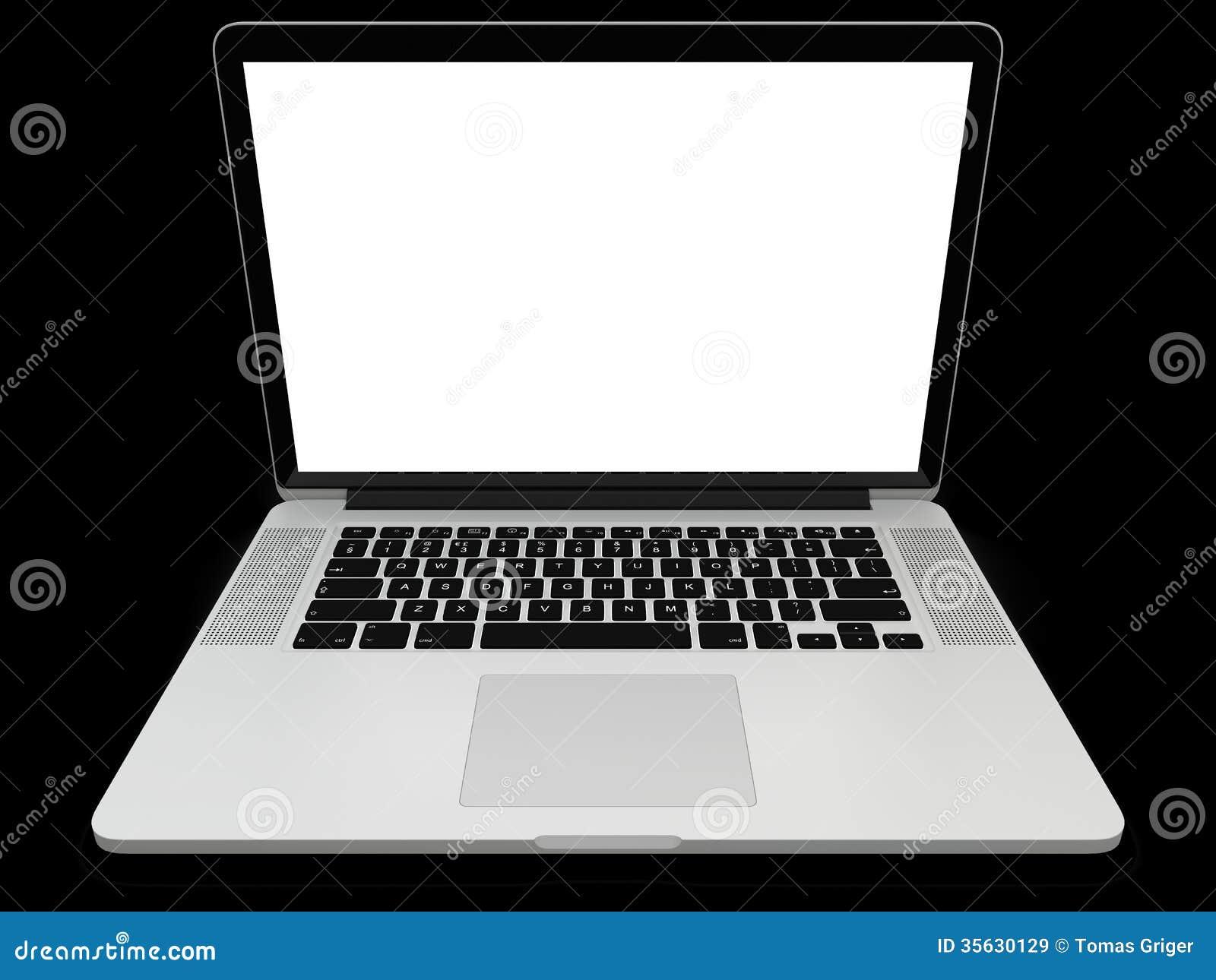 Ordinateur portable avec l cran blanc for Image ecran portable