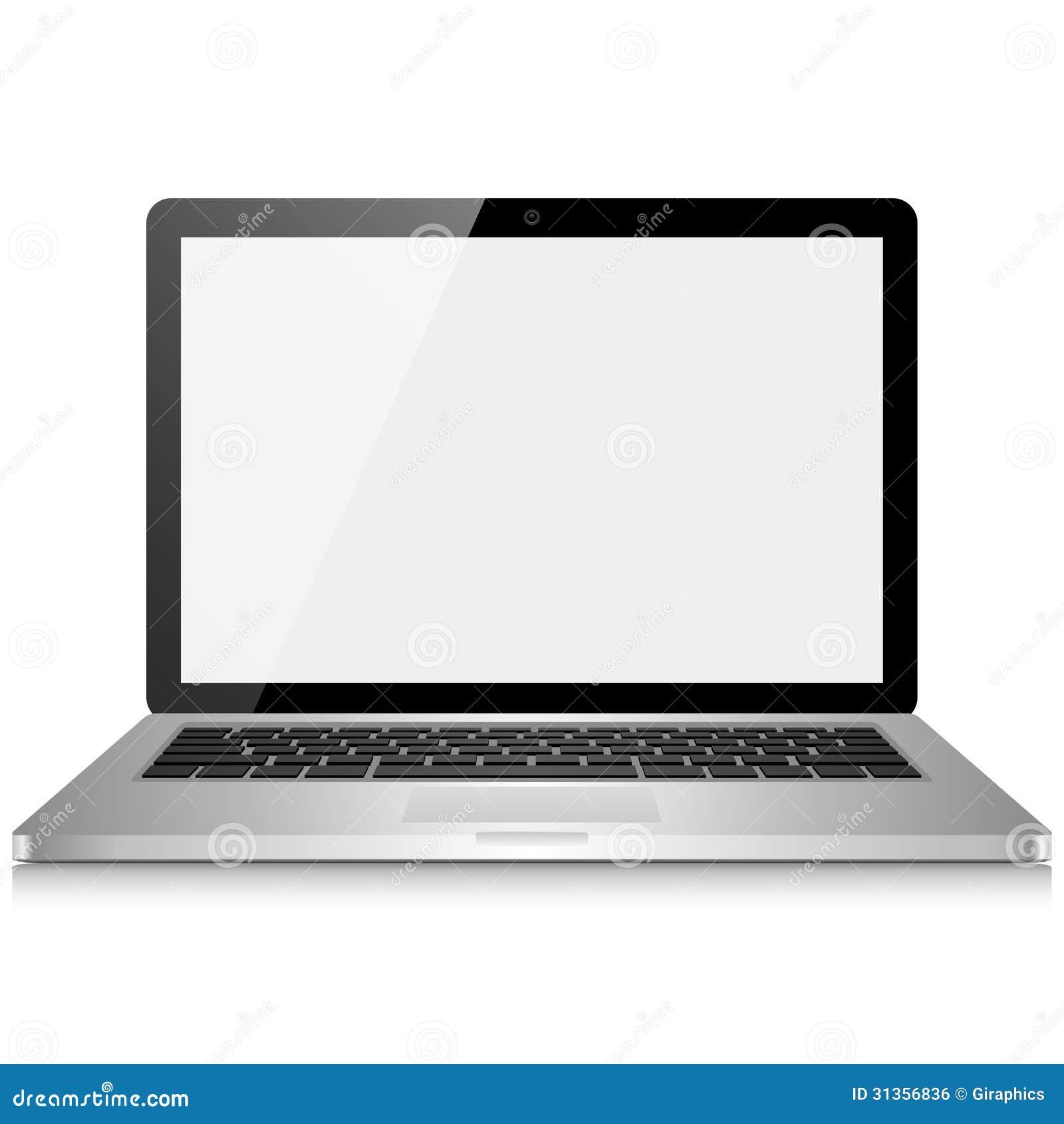 Ordinateur portable avec l 39 cran vide image libre de for Image ecran portable