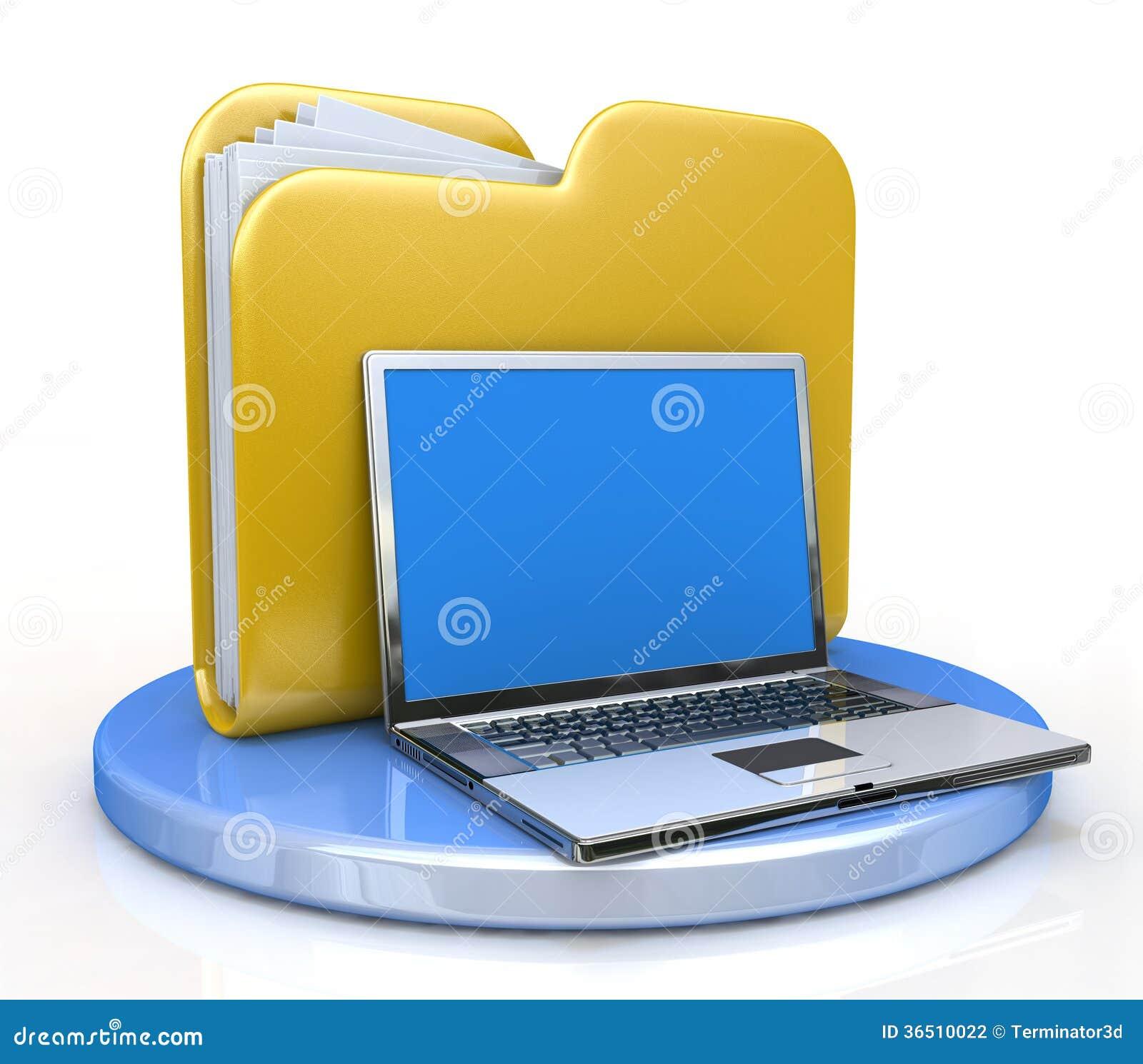Ordinateur portable et dossier