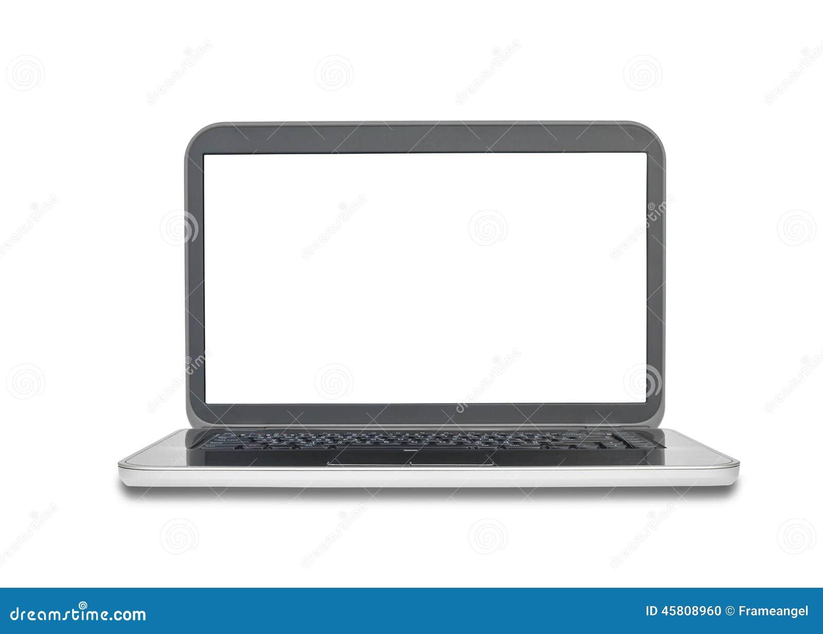 Ordinateur portable ou carnet avec l 39 cran vide sur le for Photo ecran portable