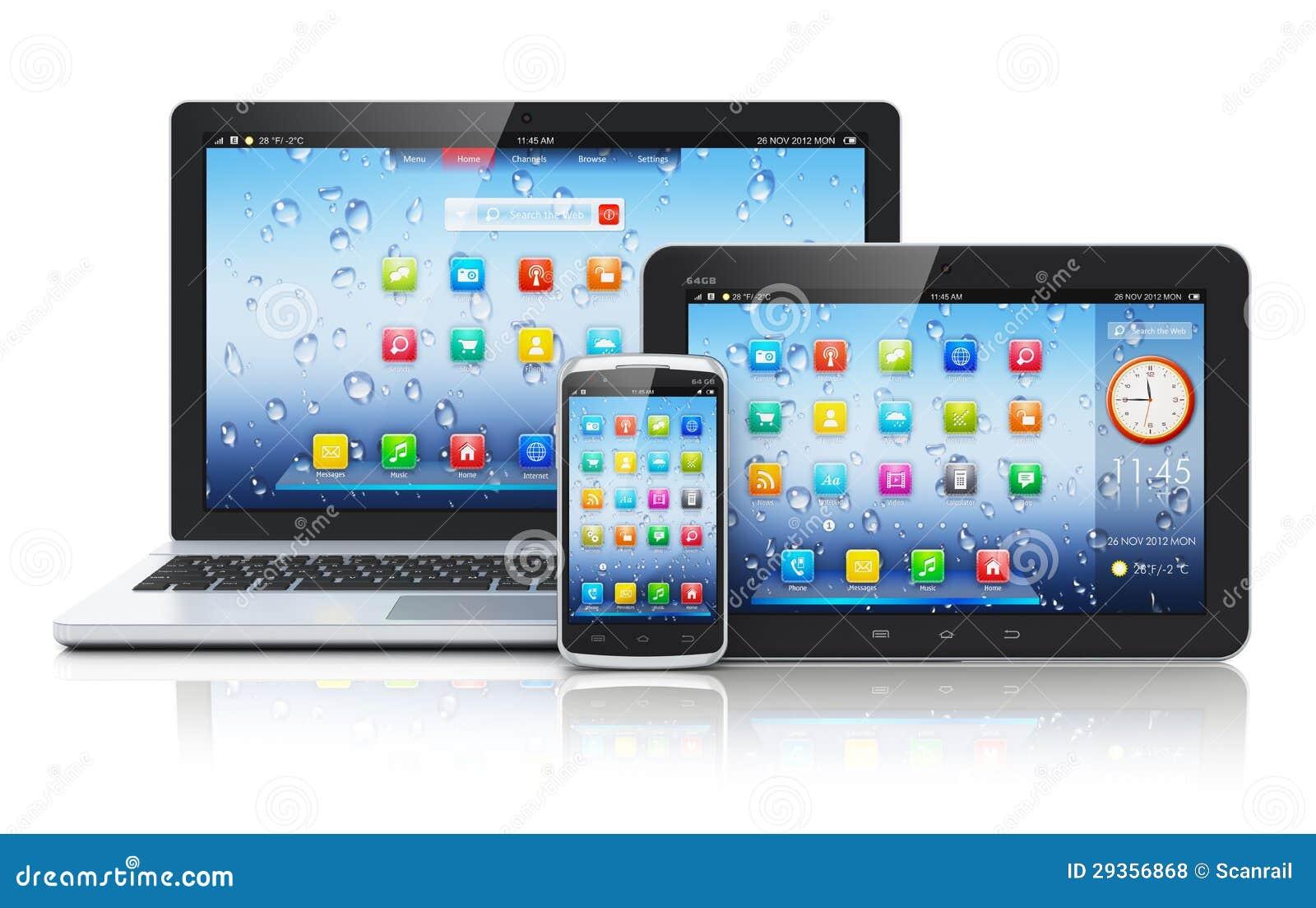ordinateur portable pc de tablette et smartphone photos. Black Bedroom Furniture Sets. Home Design Ideas