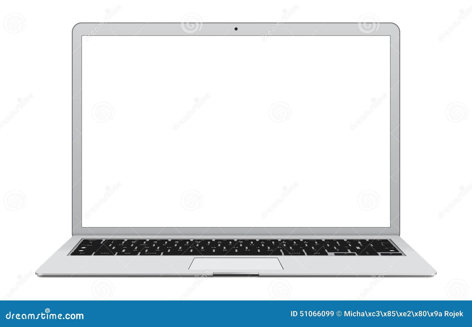 Ordinateur portatif avec l écran blanc