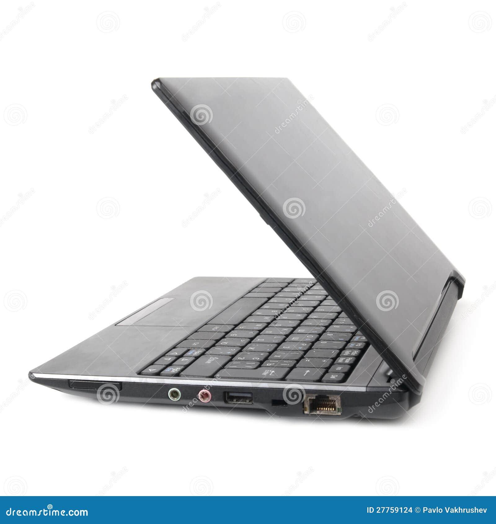 Ordinateur portatif avec l écran vide