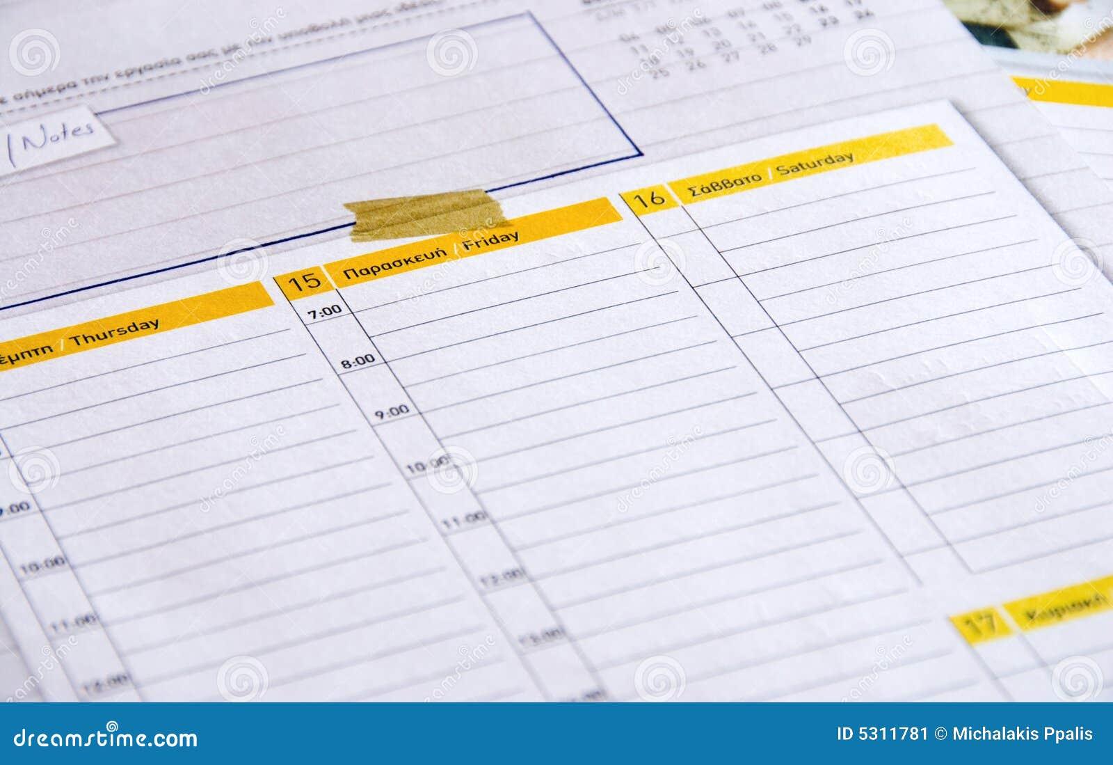 Download Ordine Del Giorno Personale Immagine Stock - Immagine di personale, carta: 5311781