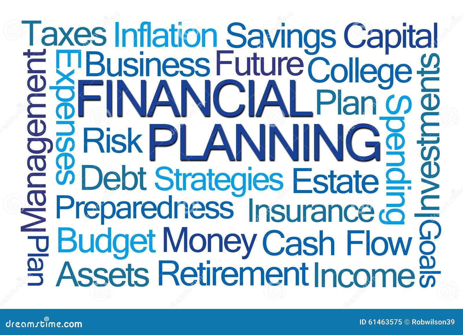 Ordmoln för finansiell planläggning