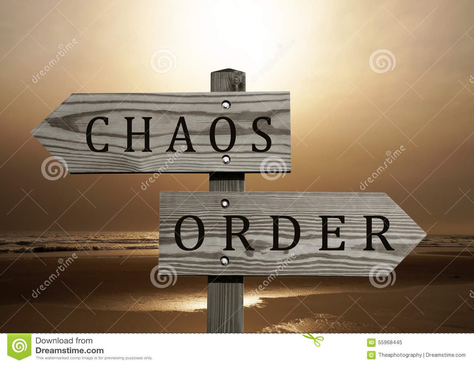 Ordre contre le signe de chaos