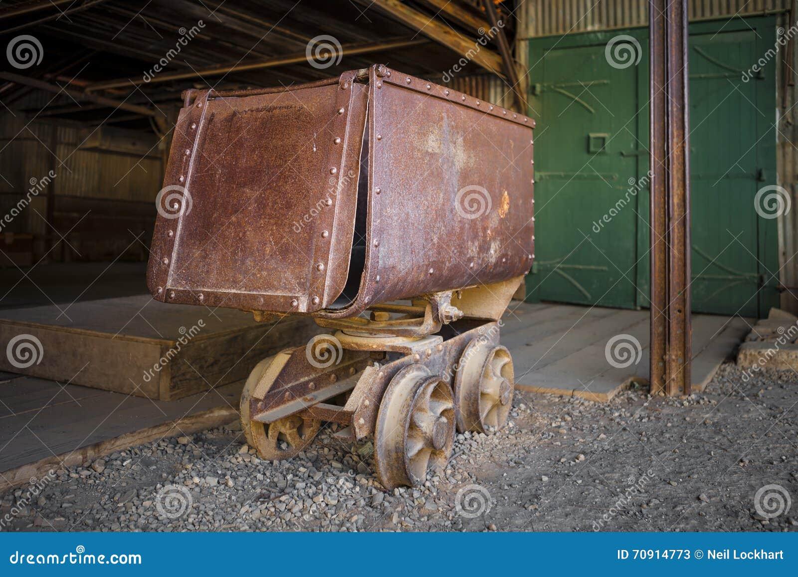Ore cart stock photo image