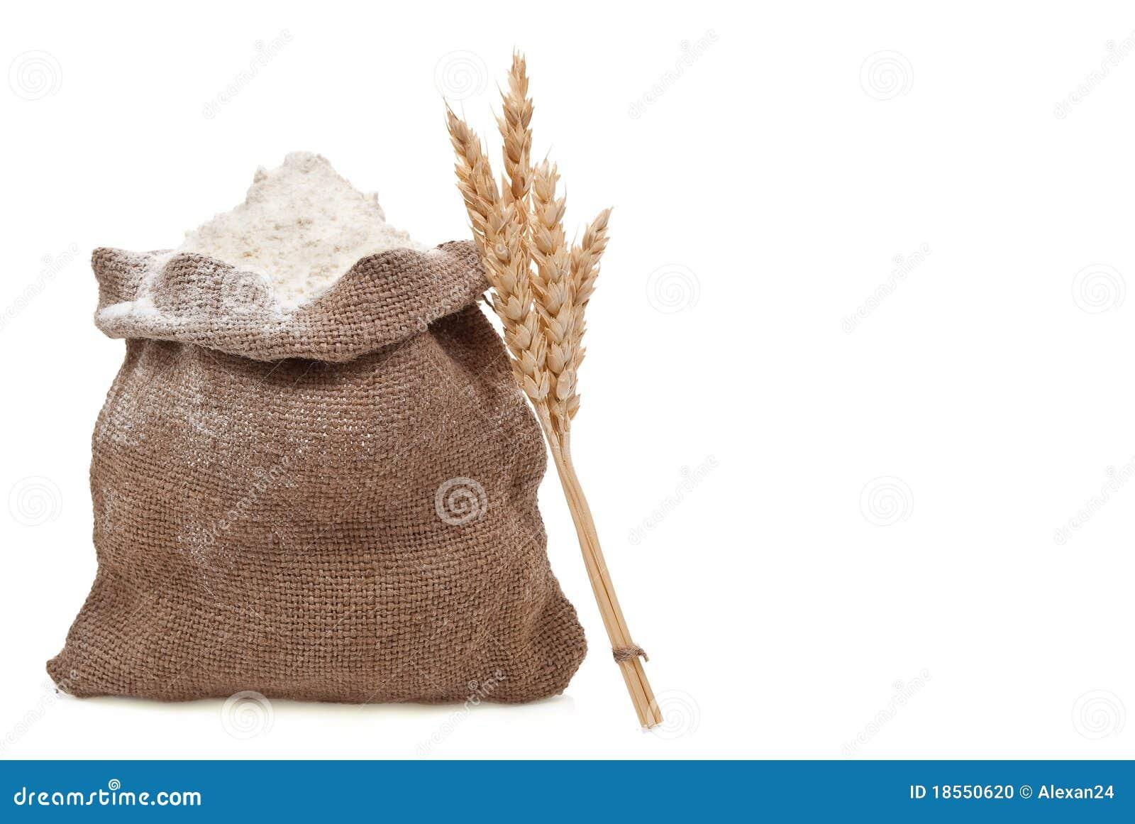 Orecchie del frumento e della farina