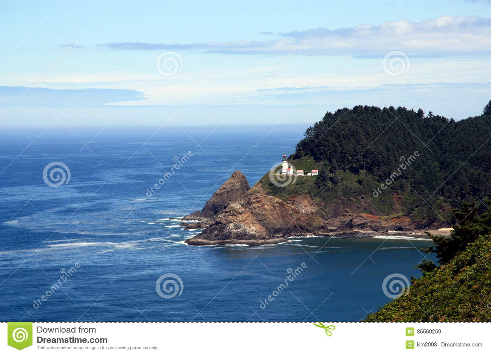 Oregon-Küste mit Leuchtturm