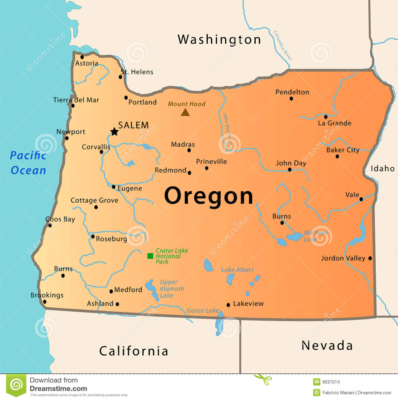 Portland Oregon Usa Map MAP - Oregon in the usa map