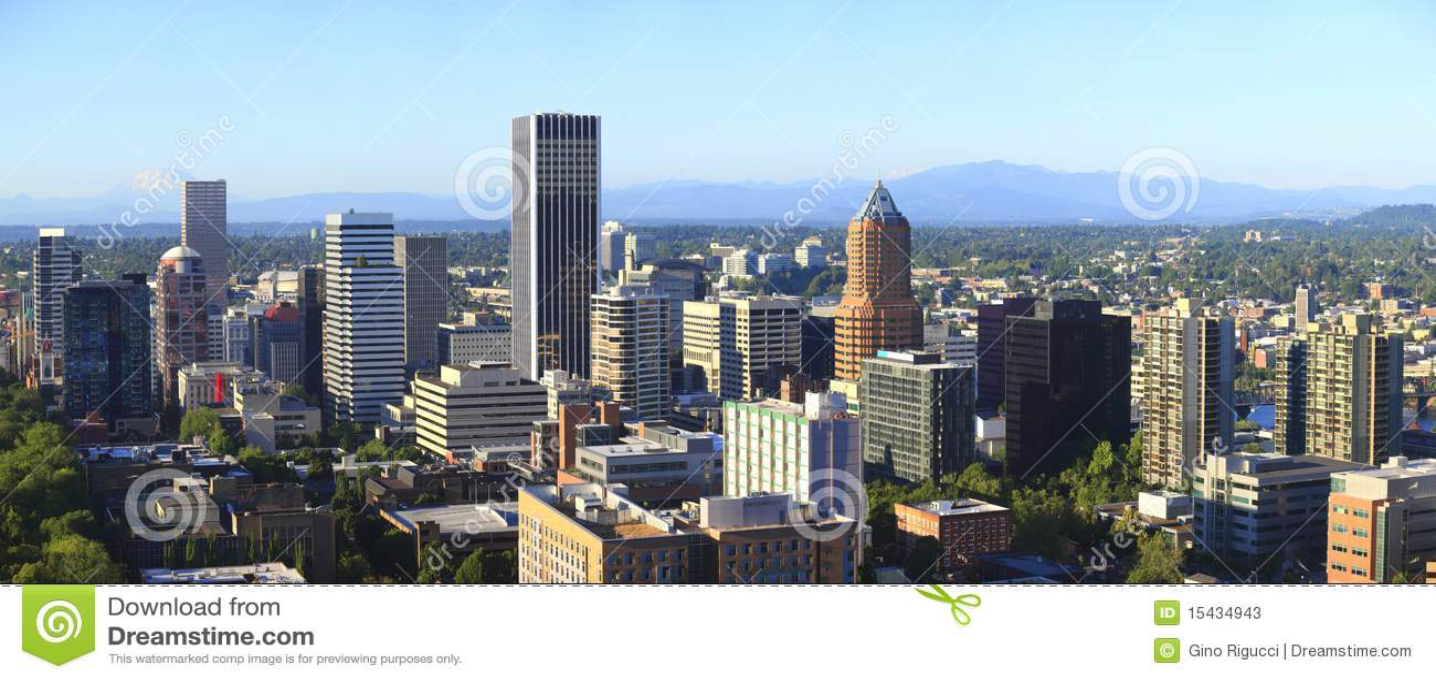 Oregon Portland linia horyzontu widok