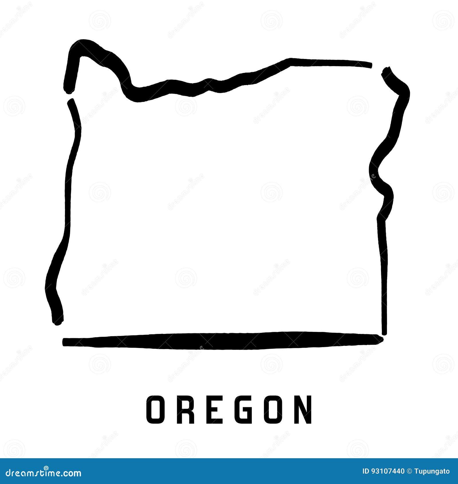 U S State Map Vector.Oregon Stock Vector Illustration Of America Shape Conceptual