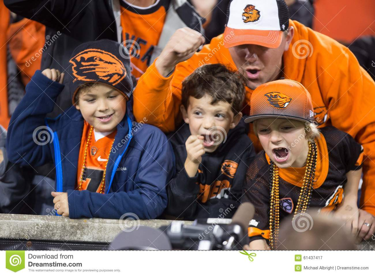 oregon state beavers fans getting wild editorial photography