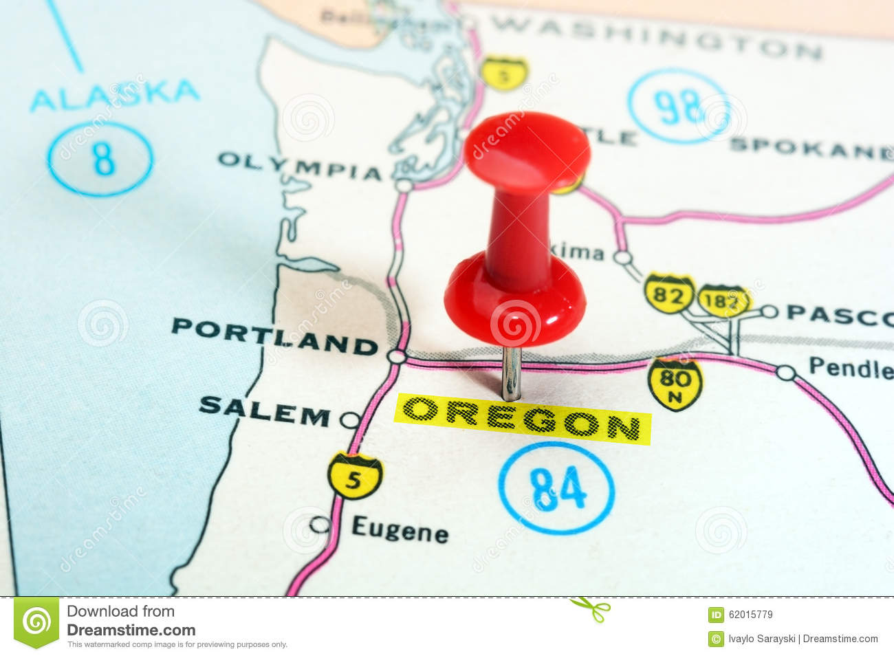 Oregon USA Map Stock Photo Image - Oregon in the usa map