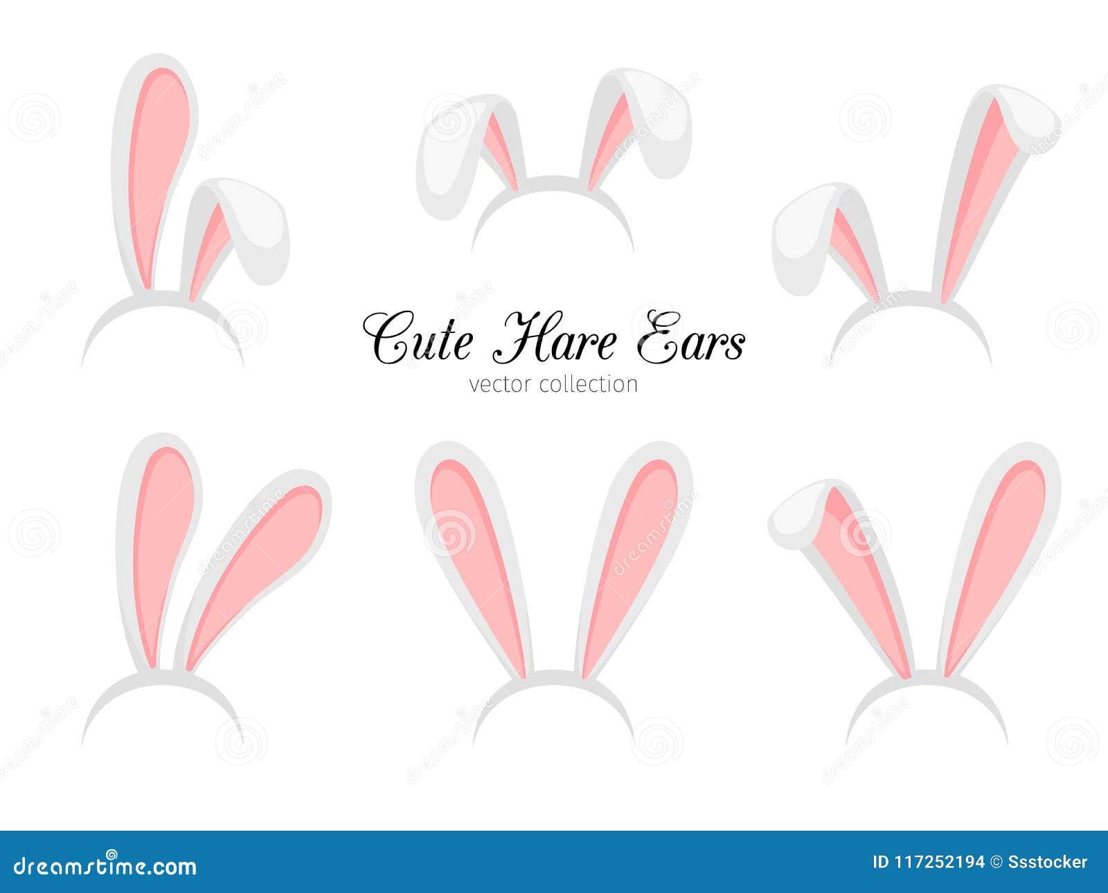 Oreilles de lièvres Dirigez le lapin drôle de Pâques de bande dessinée ou les oreilles de lapin se réunissent pour la conception