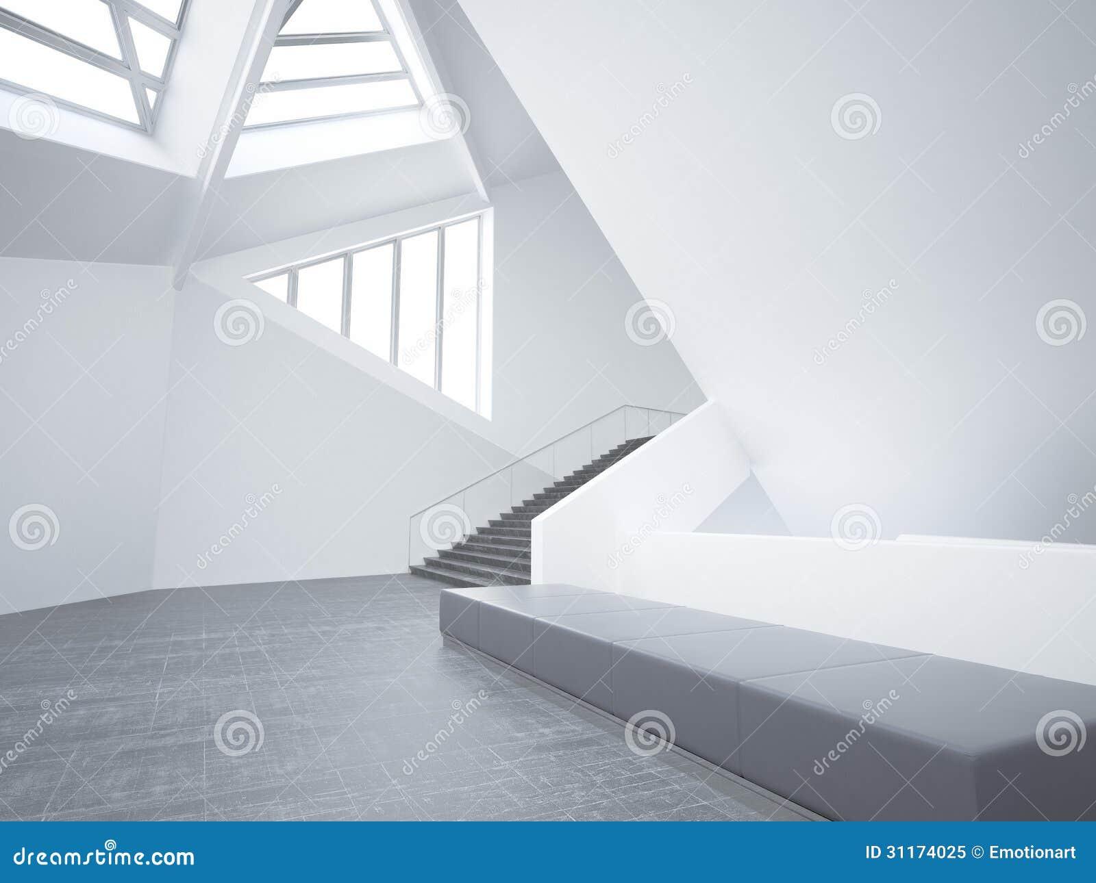 Oreillette minimaliste vide moderne int rieur d architecture for Architecture minimaliste