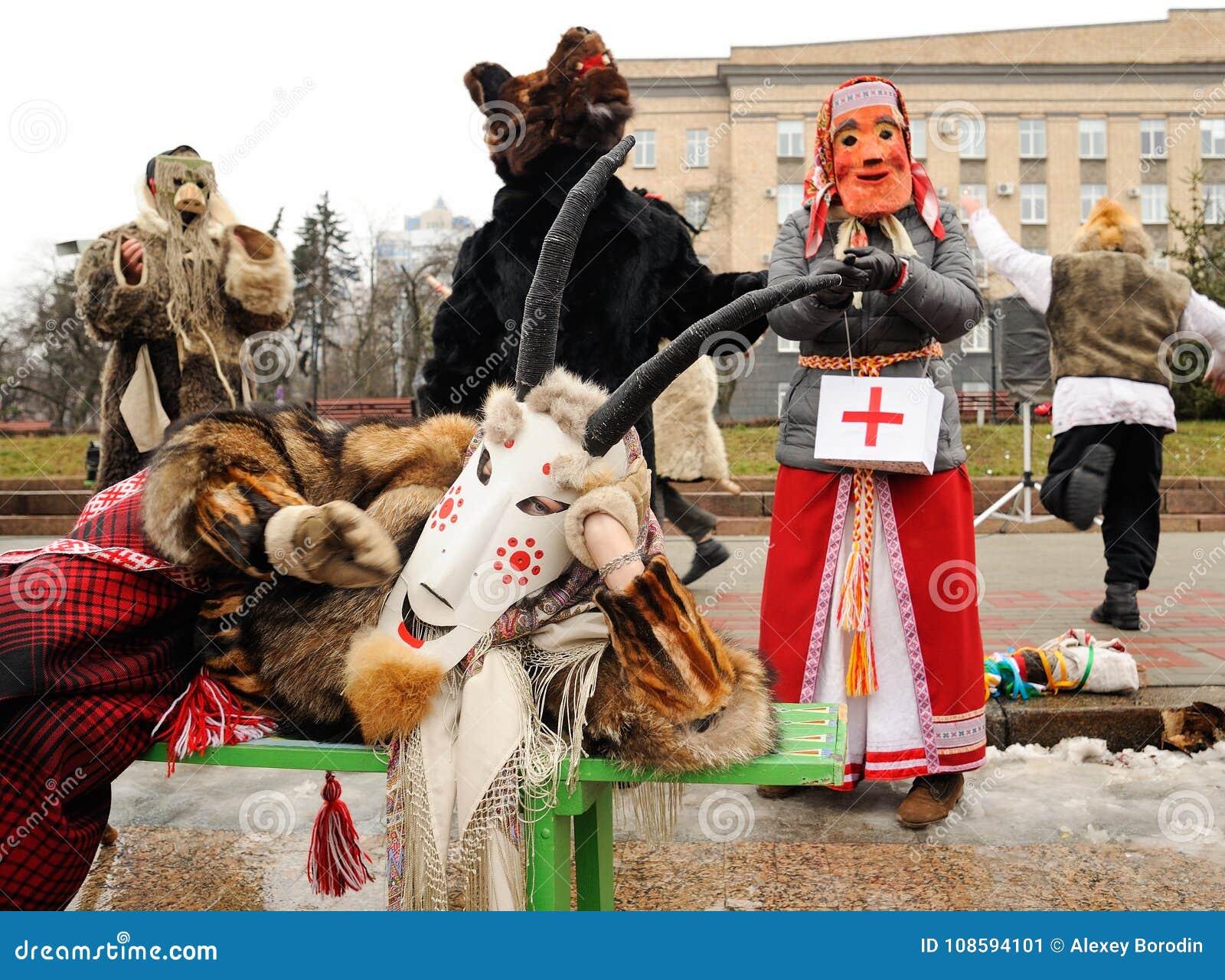 Orel, Rusia, el 6 de enero de 2018: Koliada, festival ruso del invierno