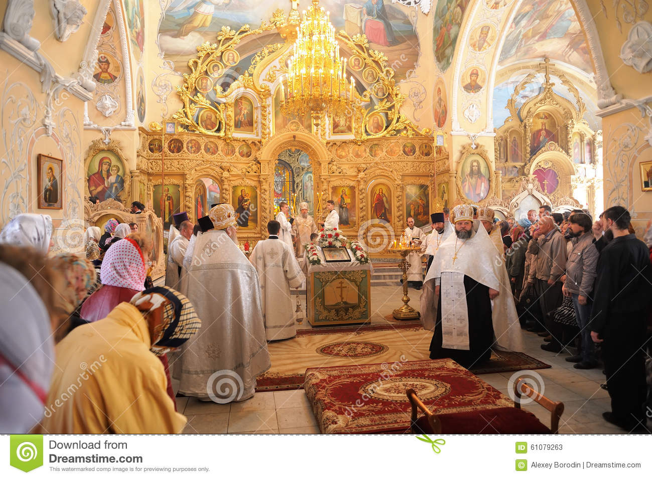 Orel, Russia - September 13, 2015: Orthodox Church Family Day. D