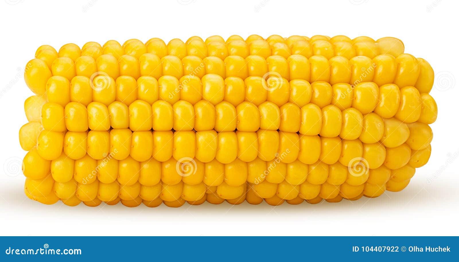 Orelha de milho Espiga de milho fresca, corte ao meio