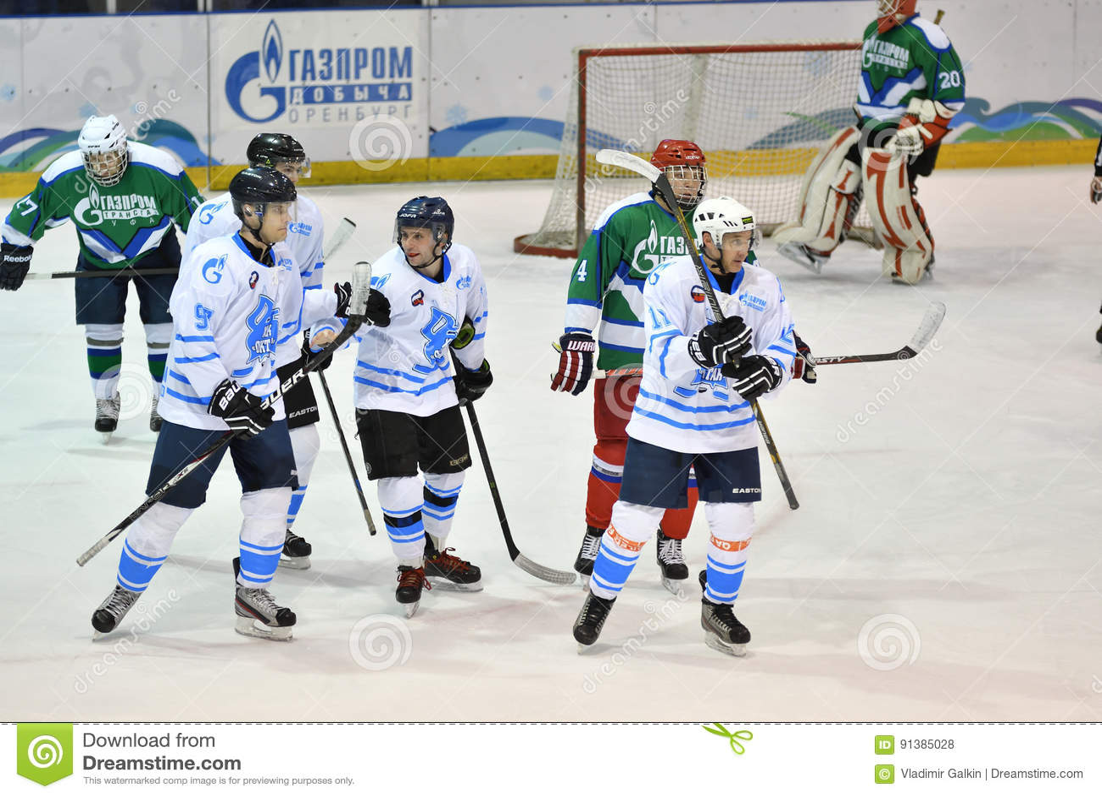 Orenburg Russia April 5 2017 Year Men Play Hockey