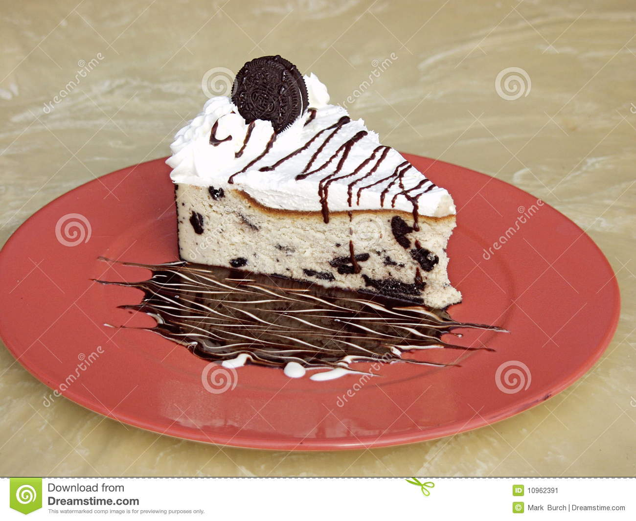 Oreo Cookie Cake on a Plate