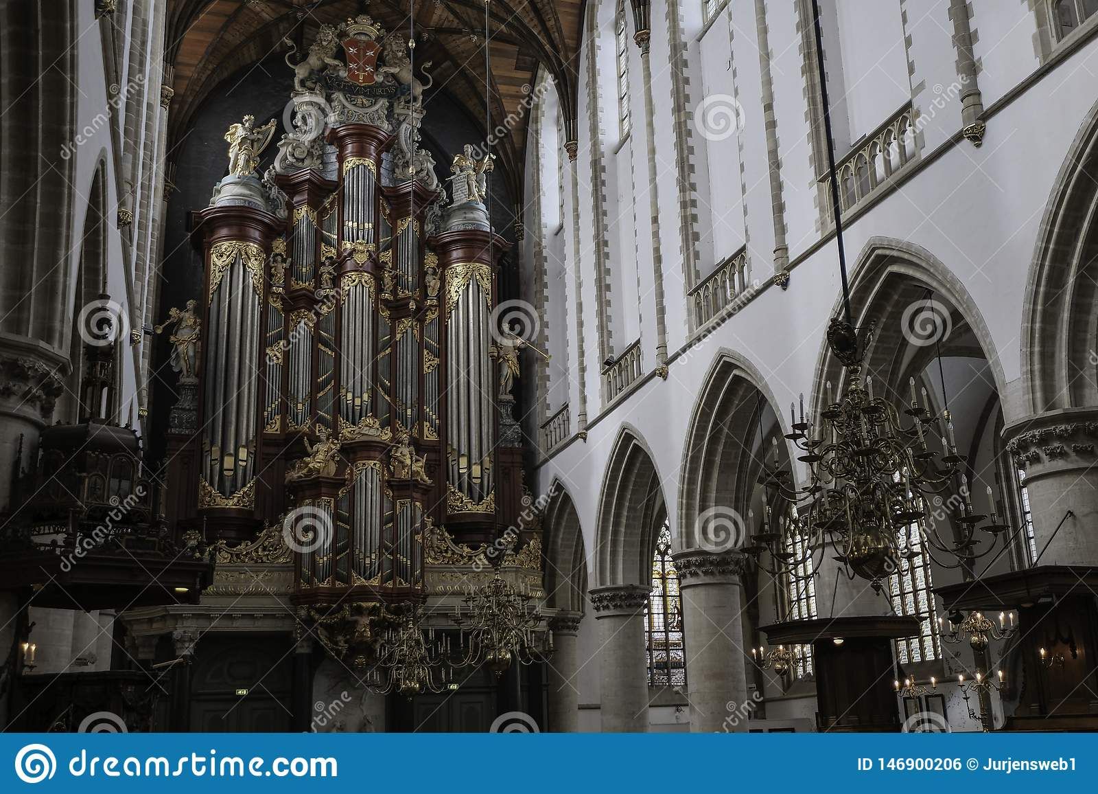 Organe célèbre de l église Haarlem de St Bavo