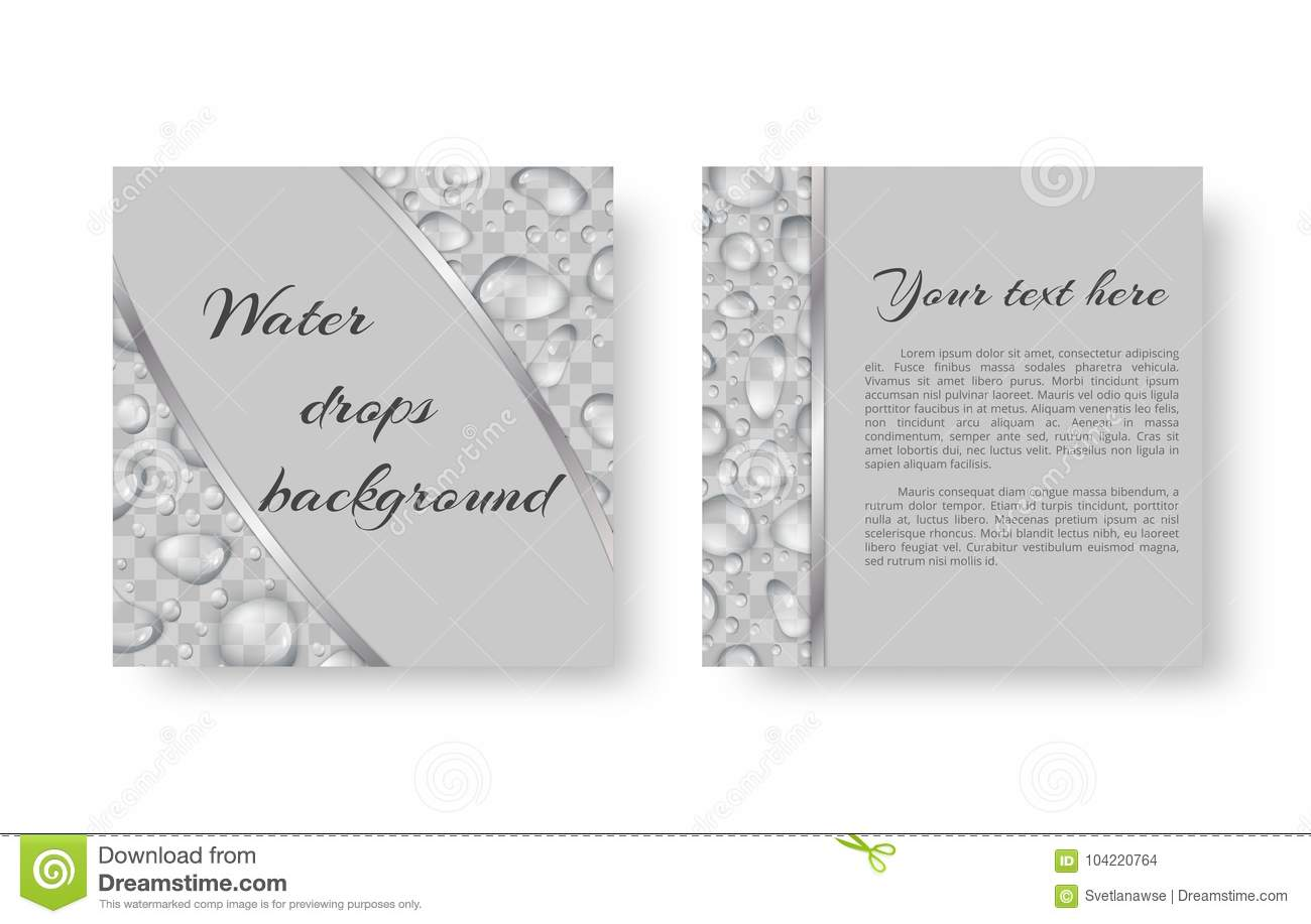 Flyer with droplets stock vector illustration of invite 104220764 organic background design for greeting card leaflets with bright drops of dew for environmental protection measures m4hsunfo