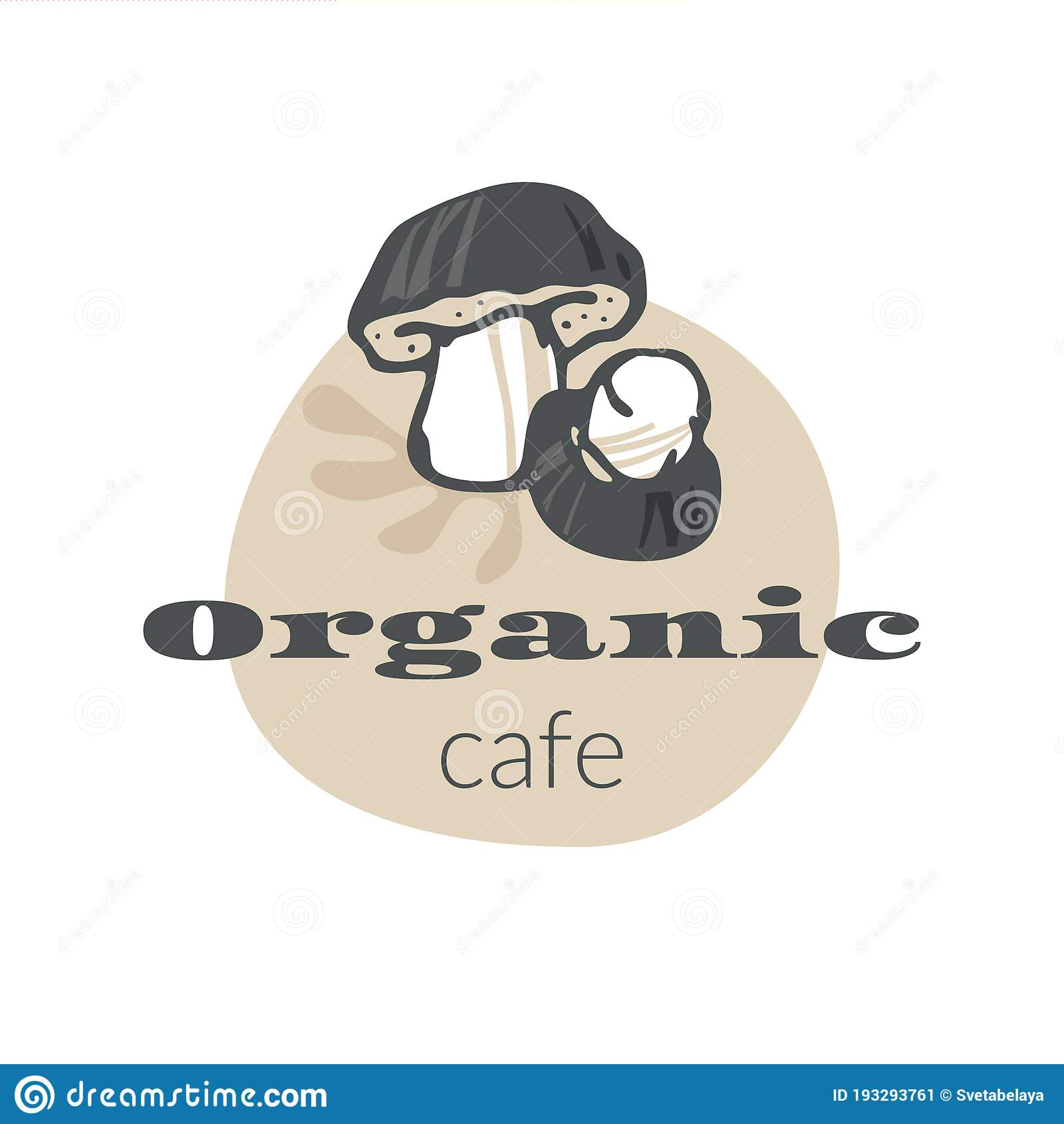 Organic Cafe Emblem Stock Vector Illustration Of Beautiful 193293761