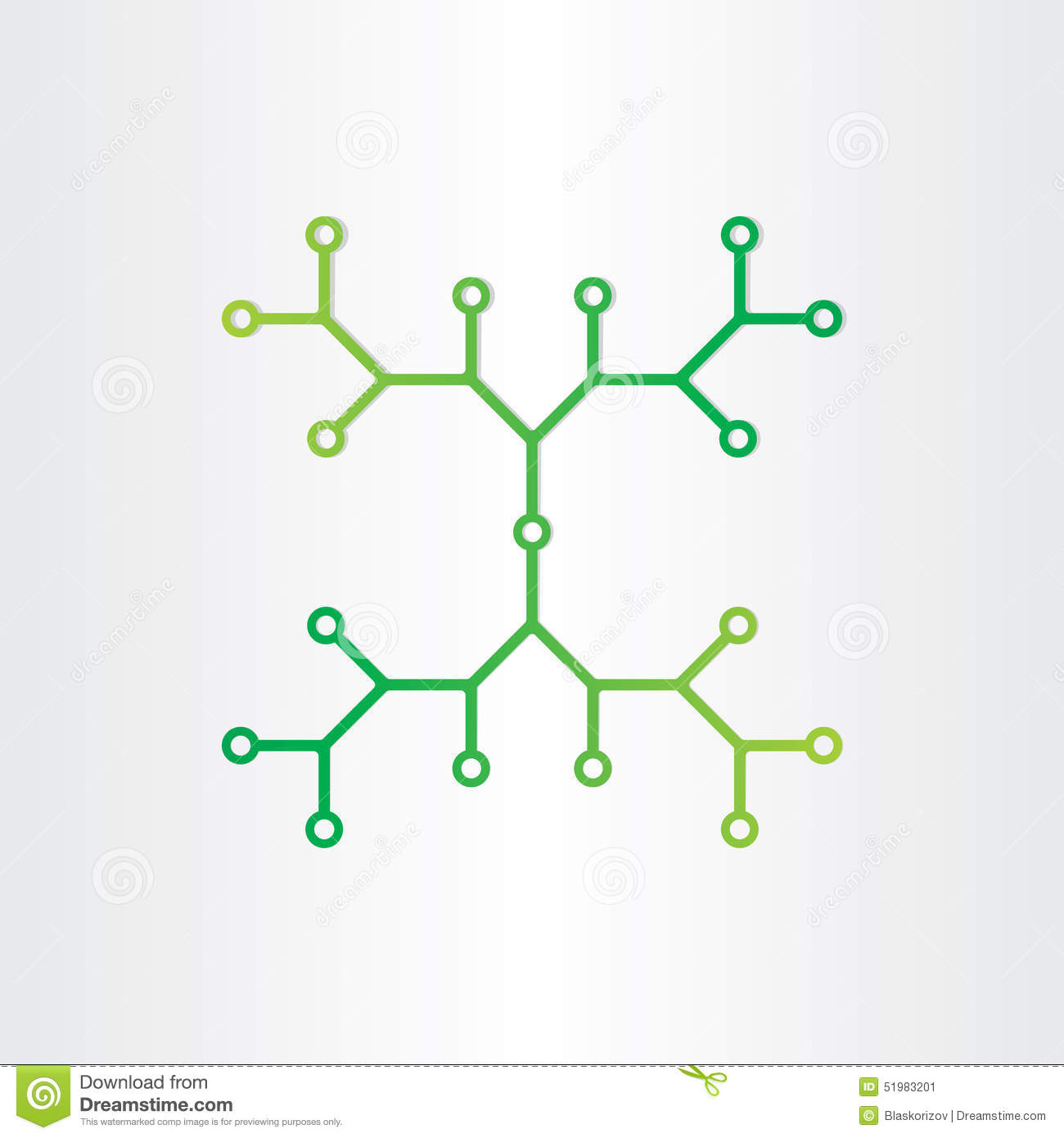 organic chemistry structure model abstract design stock
