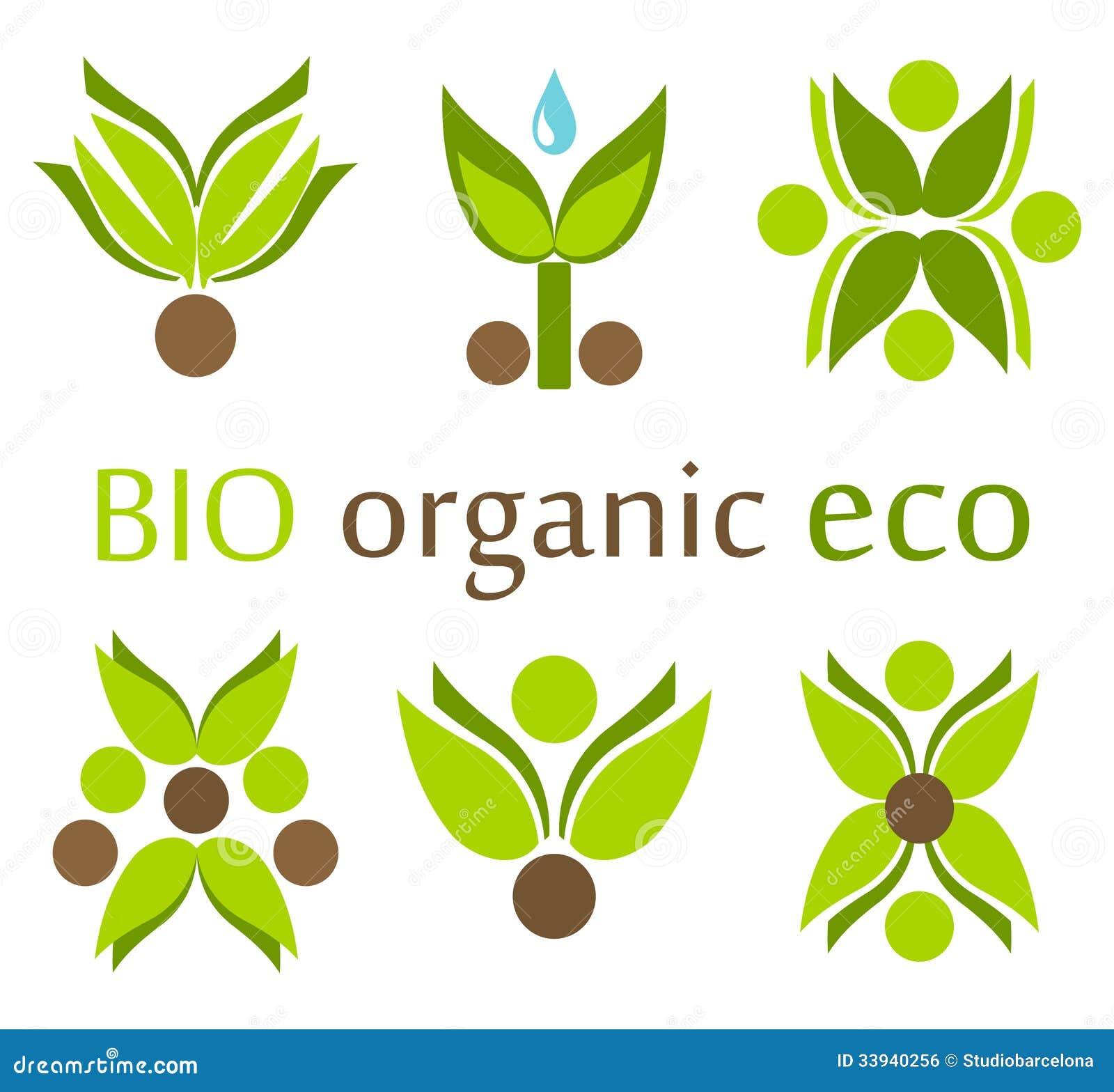Organic Eco Symbols Royalty Free Stock Image Image