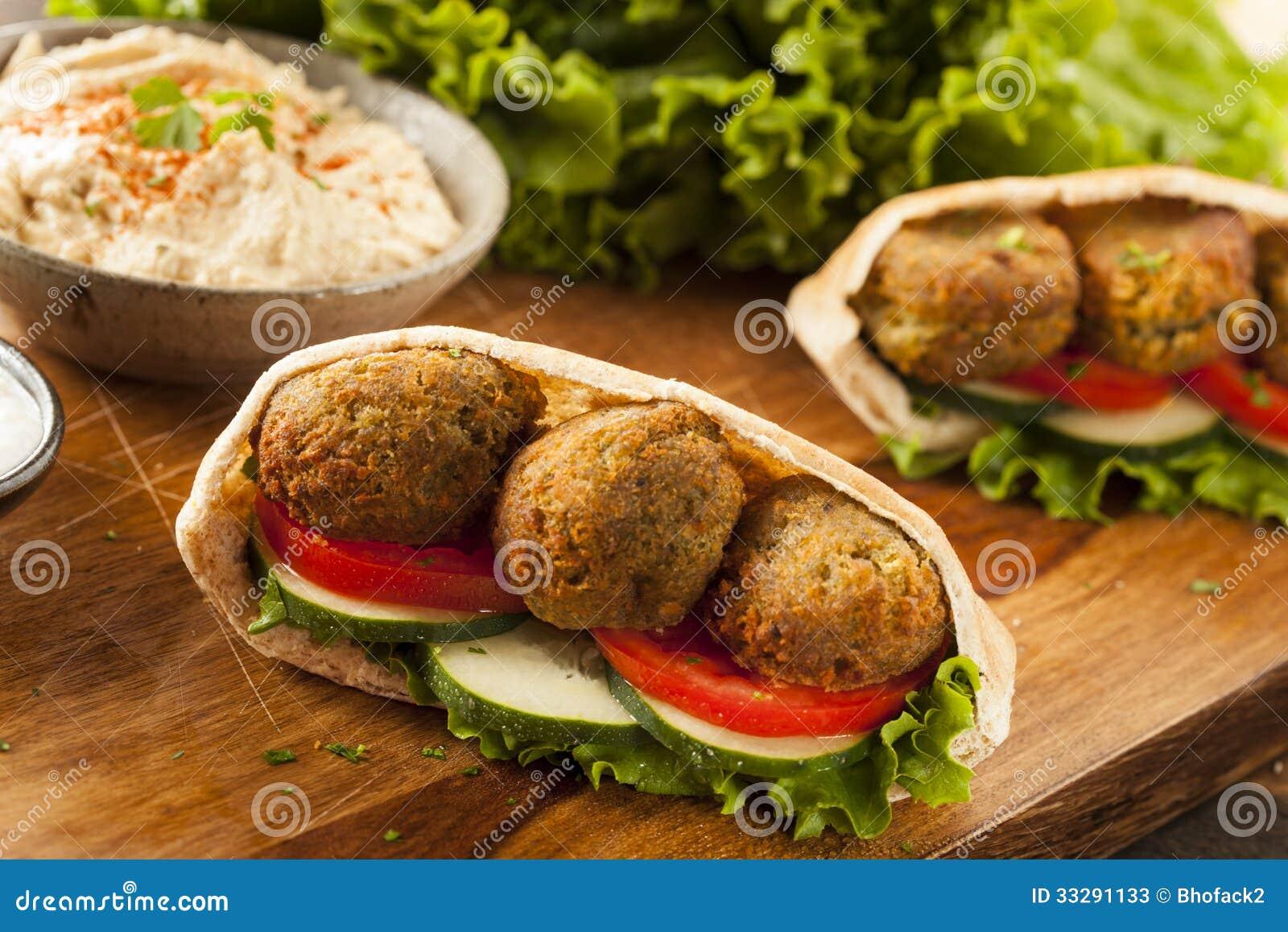 Organic Falafel In A Pita Pocket Stock Photos - Image ...