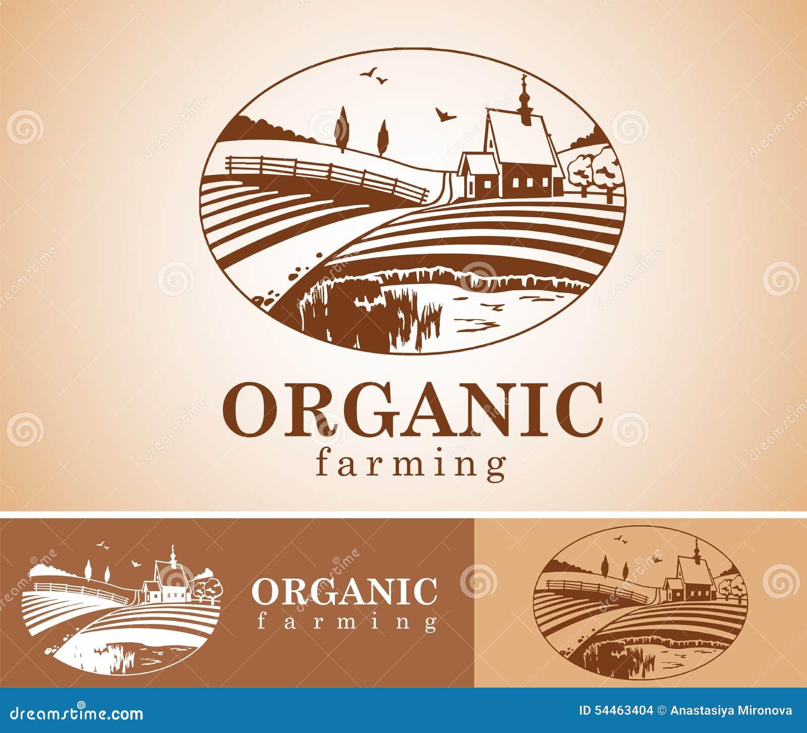 Organic Farming Design Element Stock Vector Image 54463404