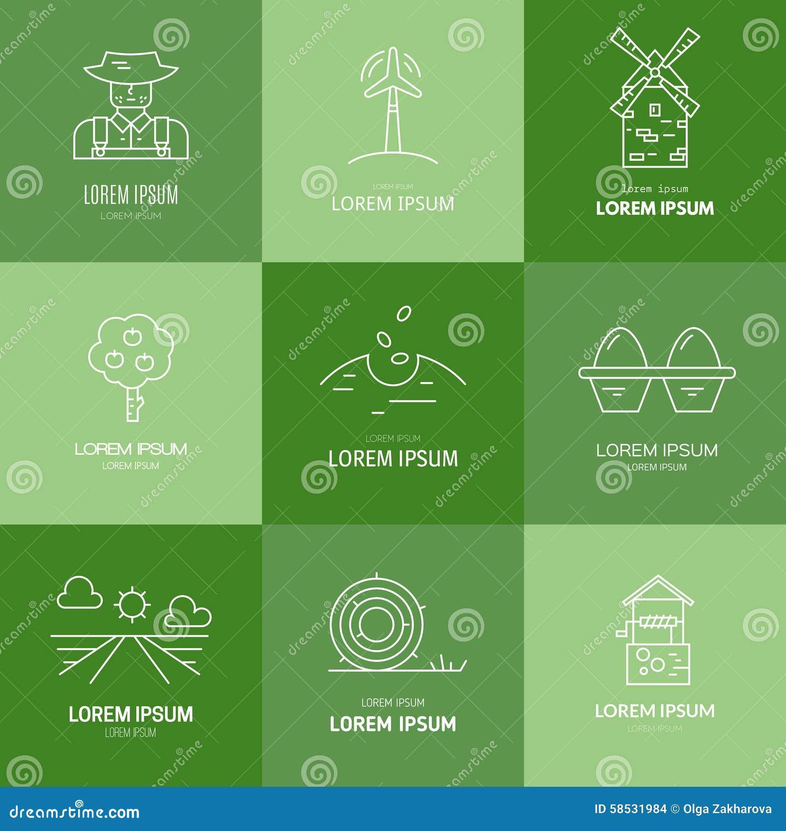 Organic Farming Logo Stock Vector. Illustration Of Logo