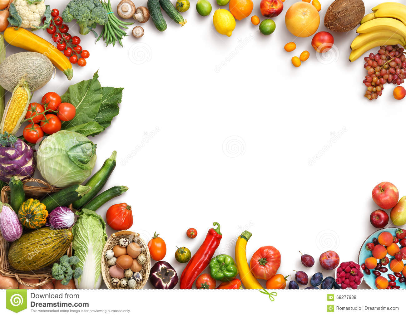Food background studio photo of different fruits and vegetables - Organic Food Background Food Photography Different Fruits And Vegetables Royalty Free Stock Photos