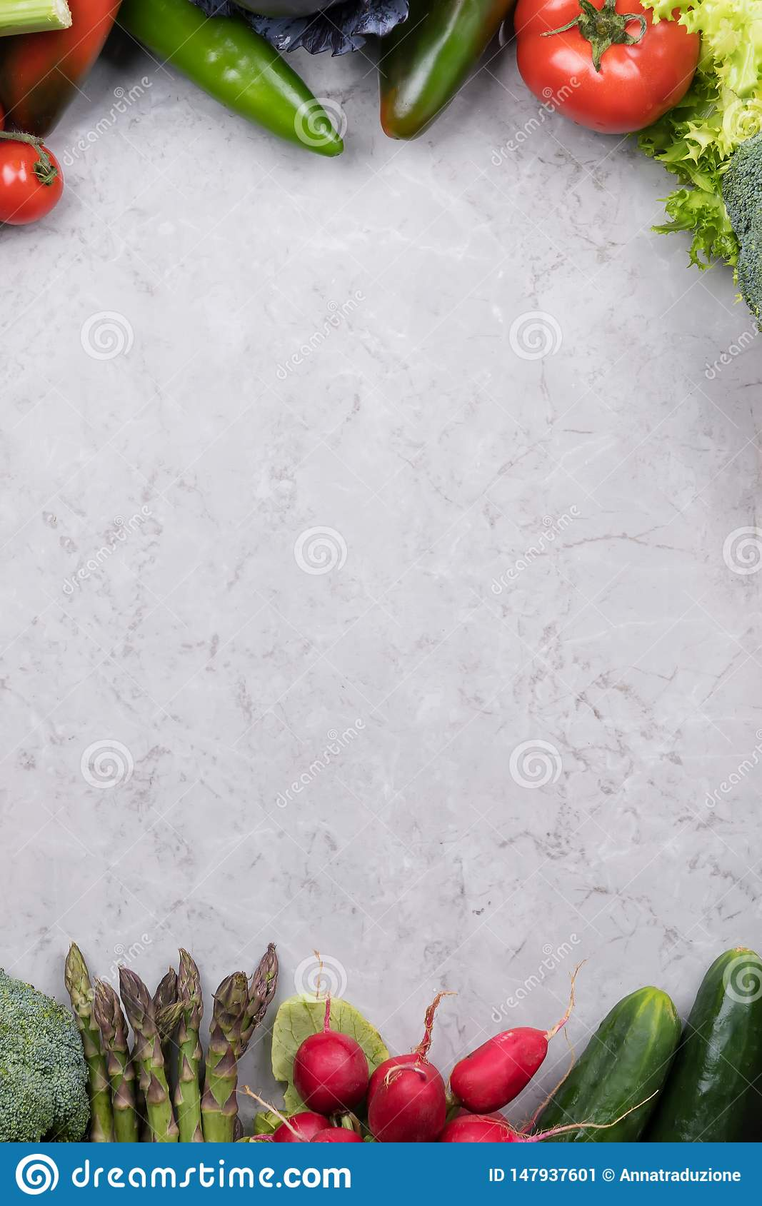 Organic Food Background Food Photography Different Vegetable On Gray Marble Background Copy Space High Resolution Product Stock Image Image Of Harvesting Health 147937601