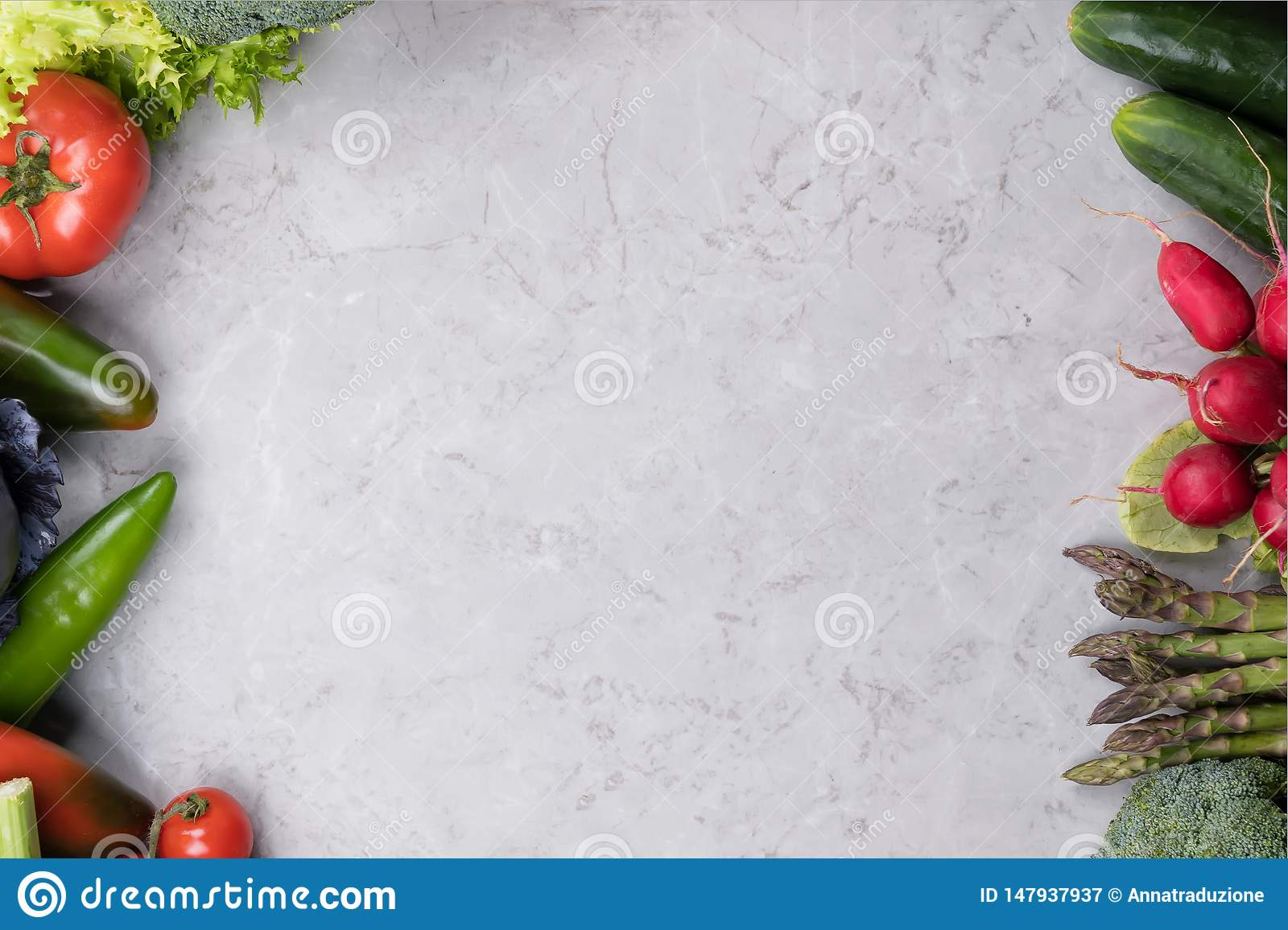 Organic Food Background Food Photography Different Vegetable On Gray Marble Background Copy Space High Resolution Product Stock Image Image Of Detox Health 147937937