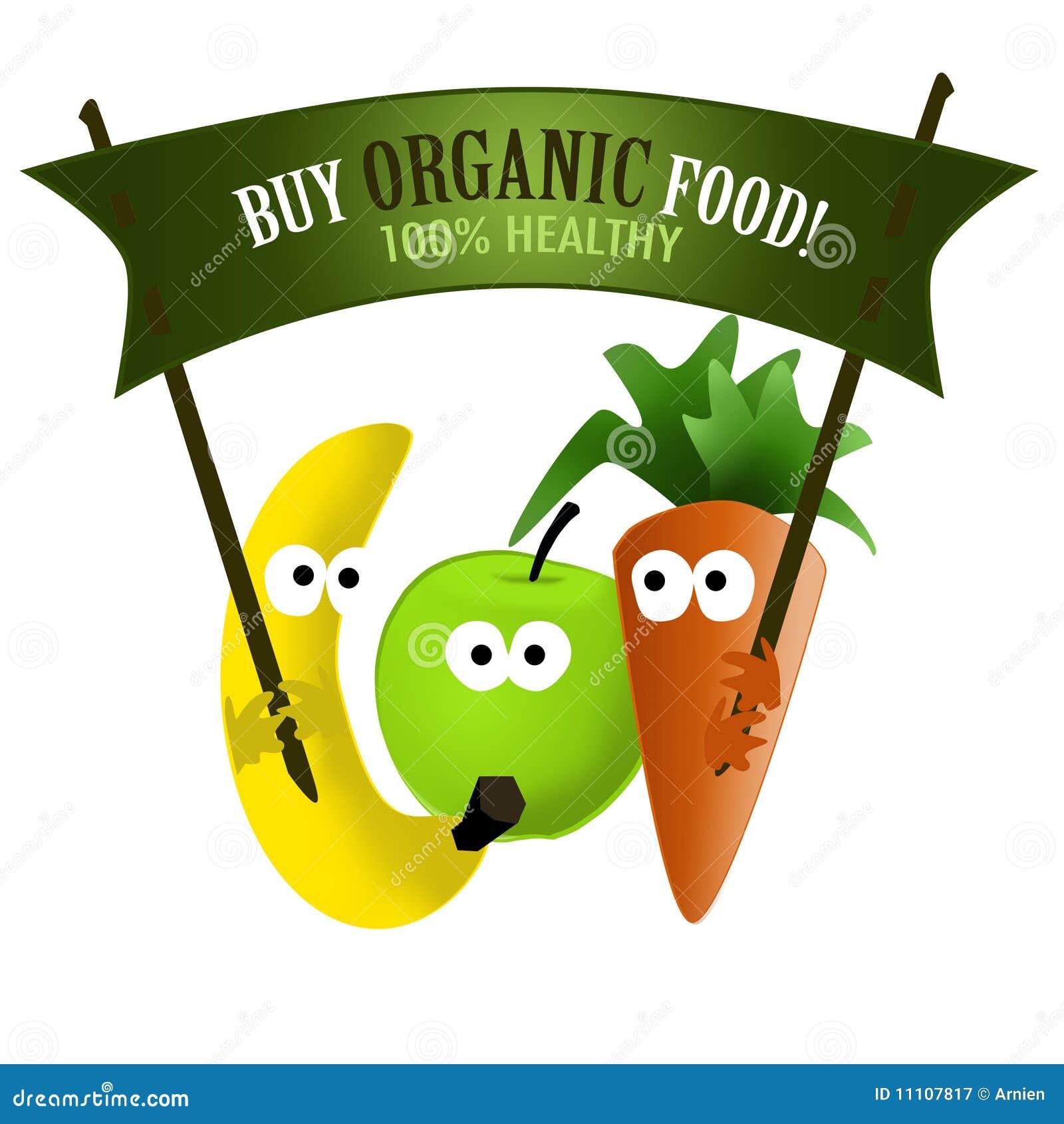 Organic Food Products Healthy: Organic Food Healthy Stock Illustration. Illustration Of