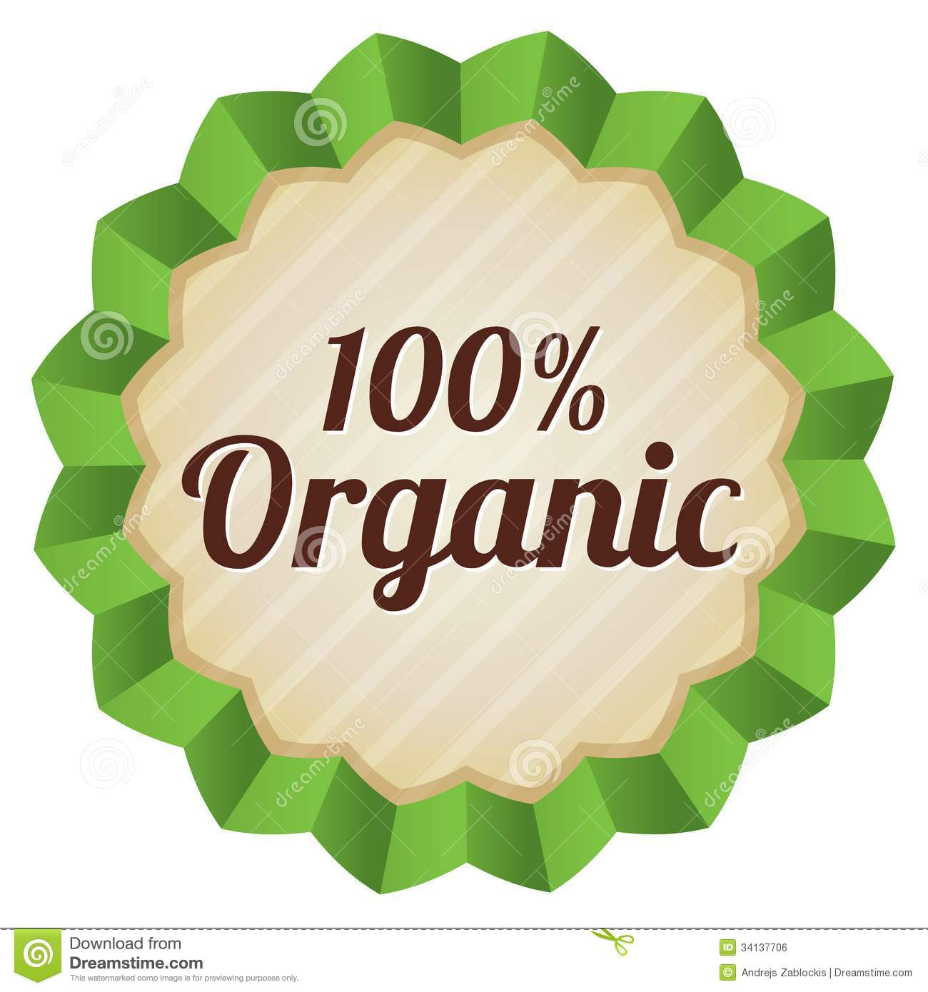 Organic Food Label  Tag  Ecological Sticker  Royalty Free