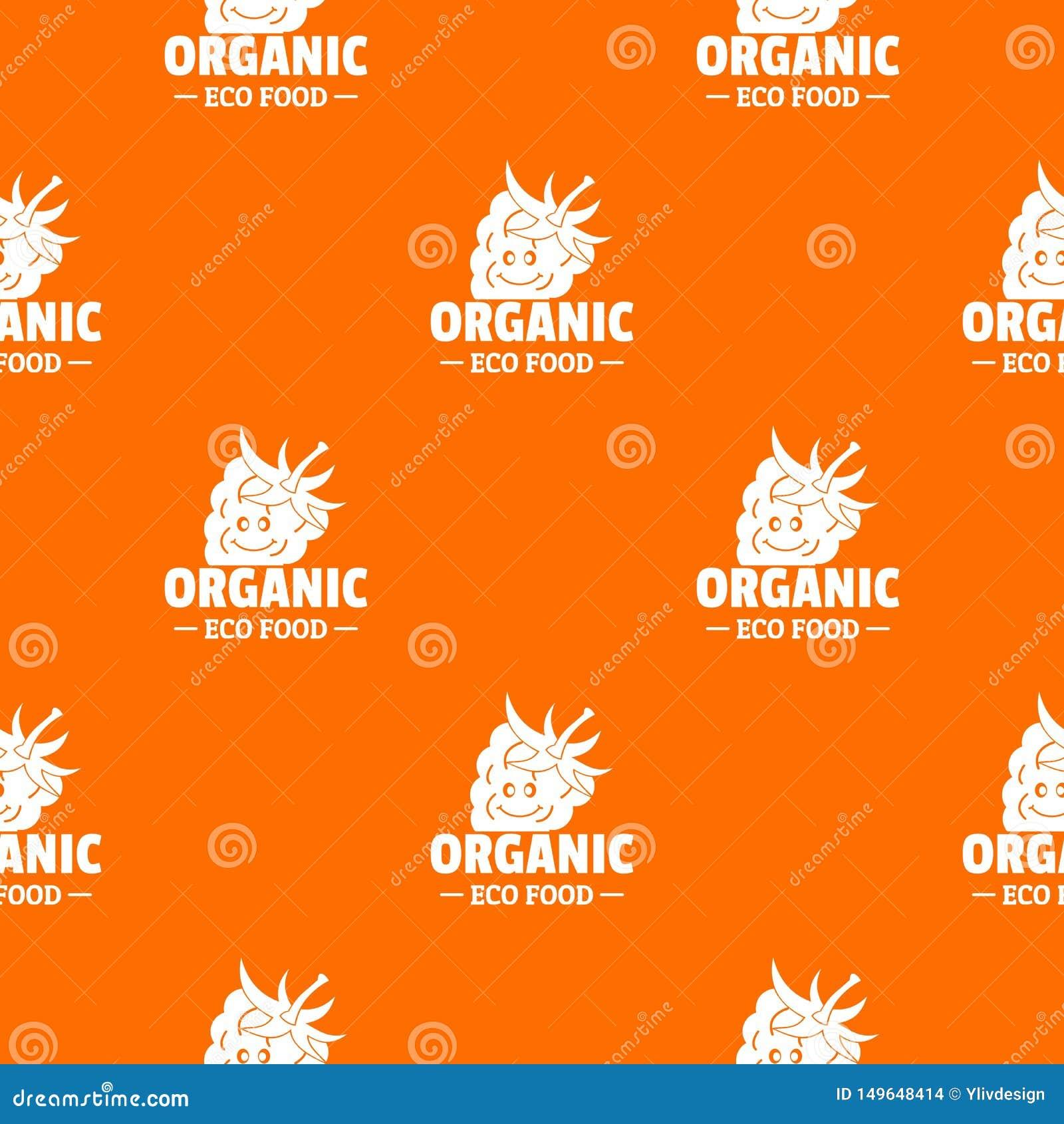 Organic Food Pattern Vector Orange Stock Vector Illustration Of Pattern Shape 149648414