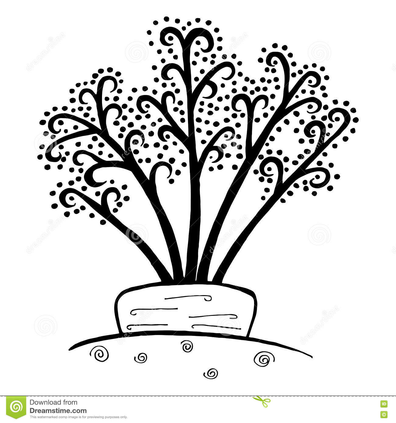 Zen Doodle Carrot Vegetable Hand Drawn Template And Coloring Book