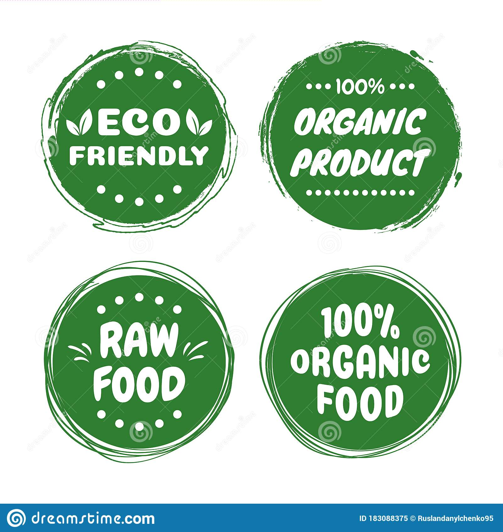 Organic Healthy Vegan Food Labels Natural Fresh Organic Food Stickers Collection Vector Graphic Design Stock Vector Illustration Of Diet Packaging 183088375